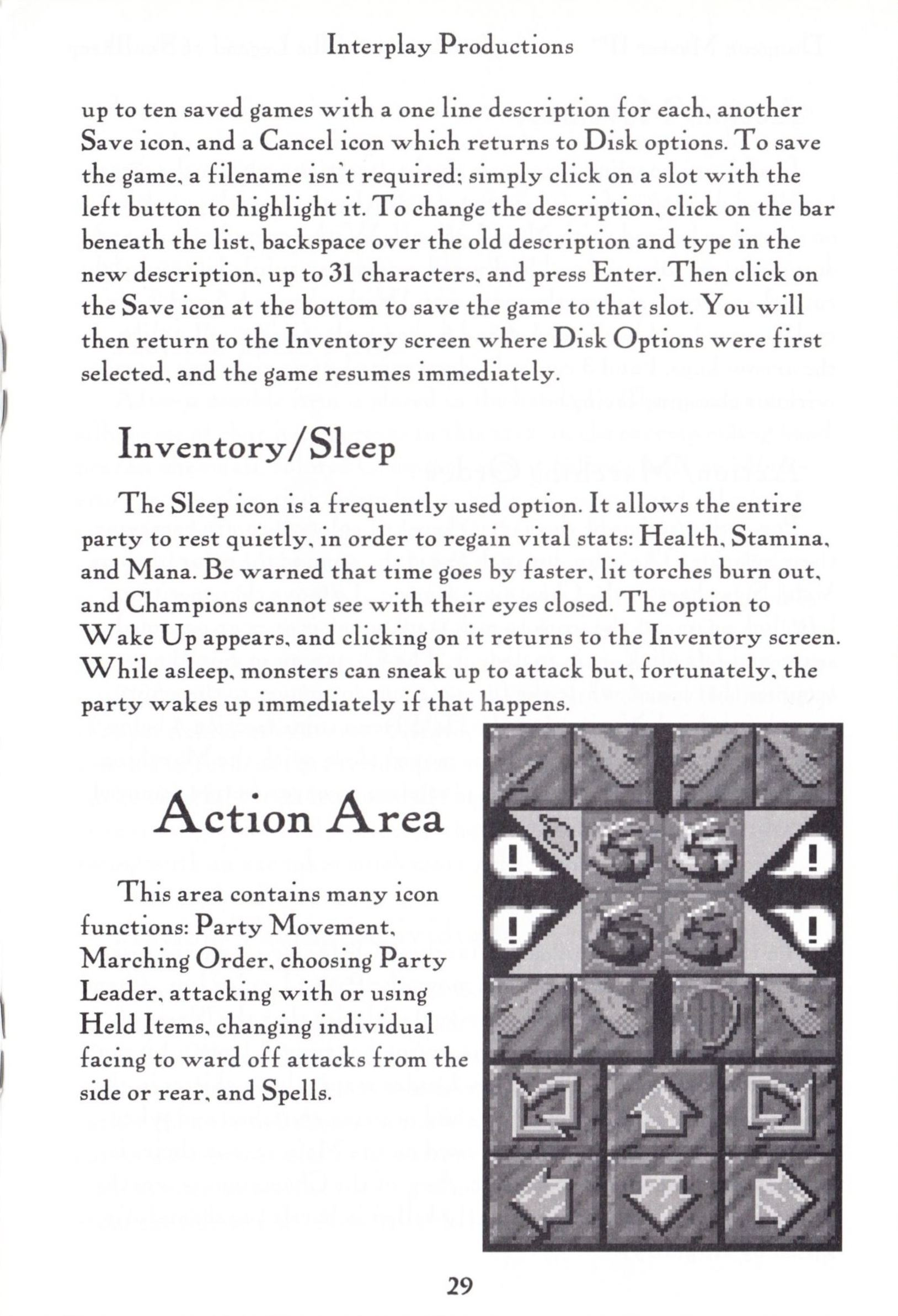 Game - Dungeon Master II - US - PC - Big Box - Manual - Page 031 - Scan