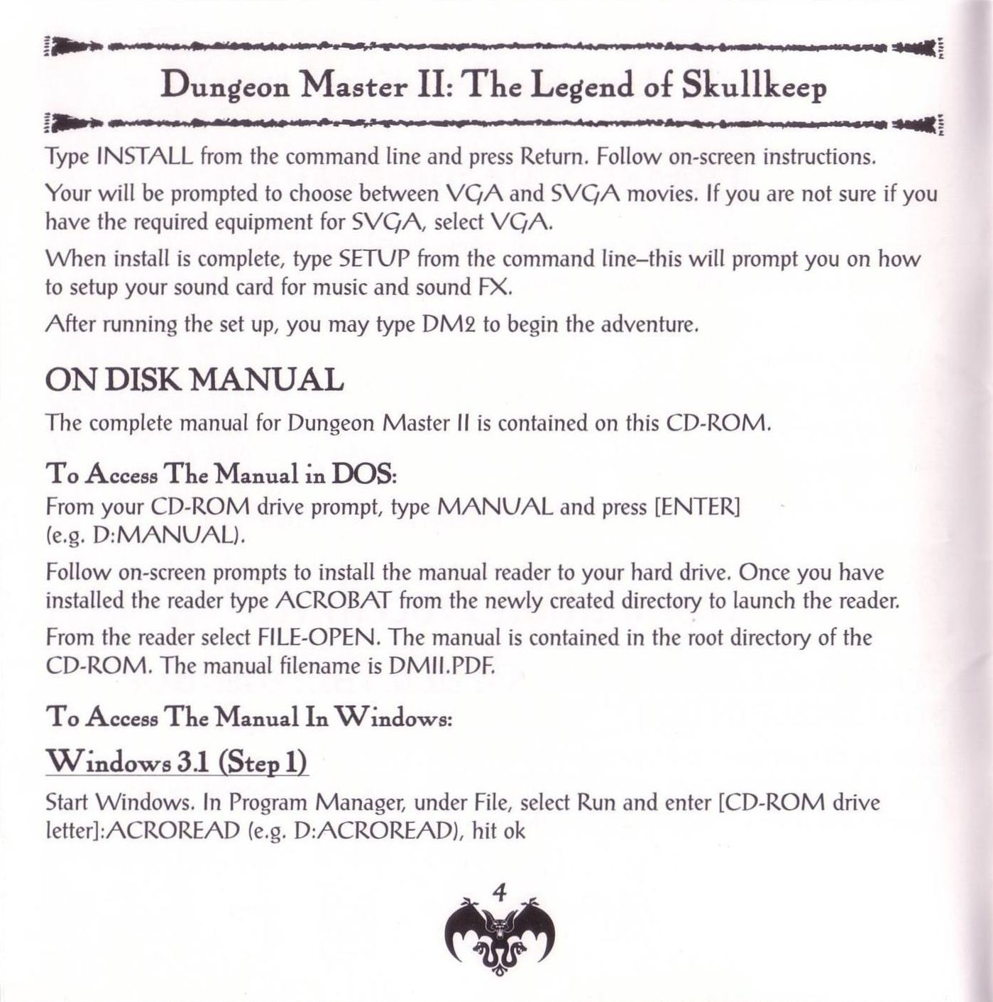 Game - Dungeon Master II - US - PC - Jewel Case - Booklet - Page 006 - Scan