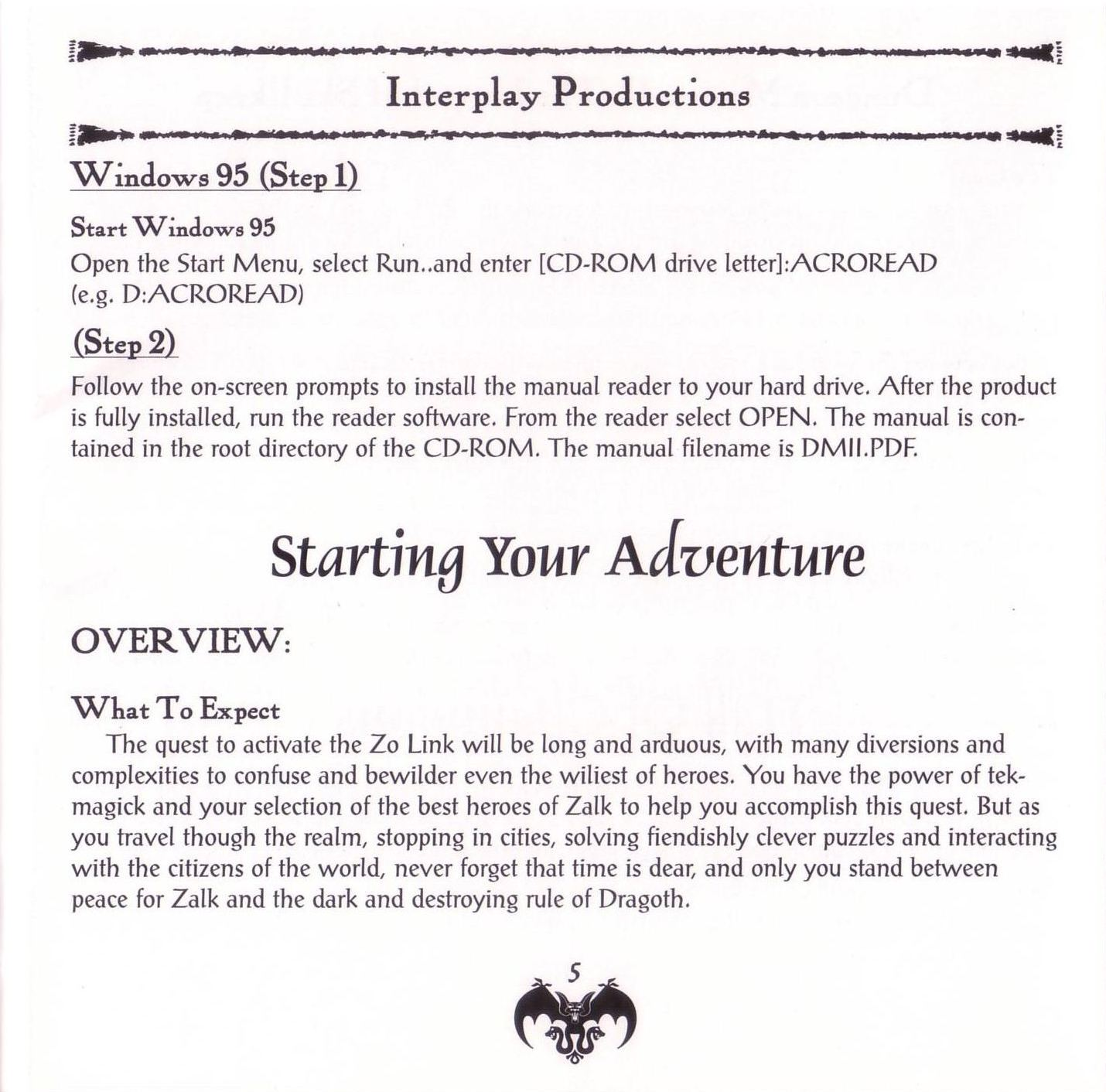 Game - Dungeon Master II - US - PC - Jewel Case - Booklet - Page 007 - Scan