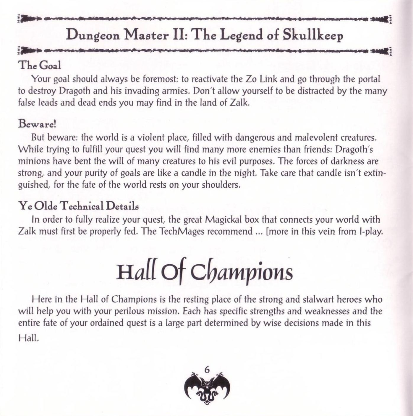Game - Dungeon Master II - US - PC - Jewel Case - Booklet - Page 008 - Scan