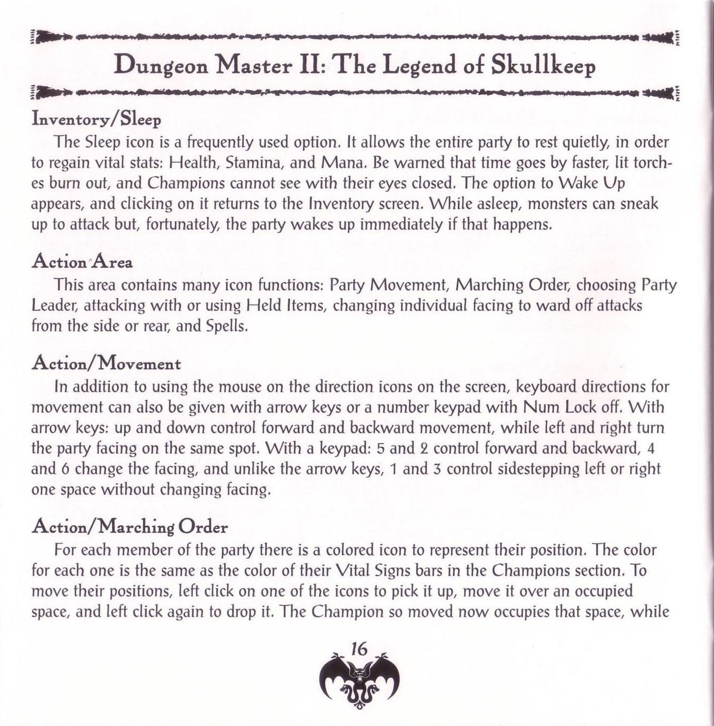 Game - Dungeon Master II - US - PC - Jewel Case - Booklet - Page 018 - Scan