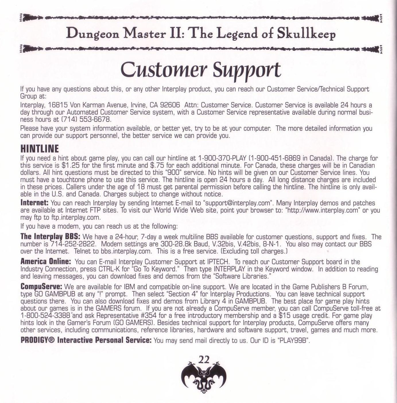 Game - Dungeon Master II - US - PC - Jewel Case - Booklet - Page 024 - Scan