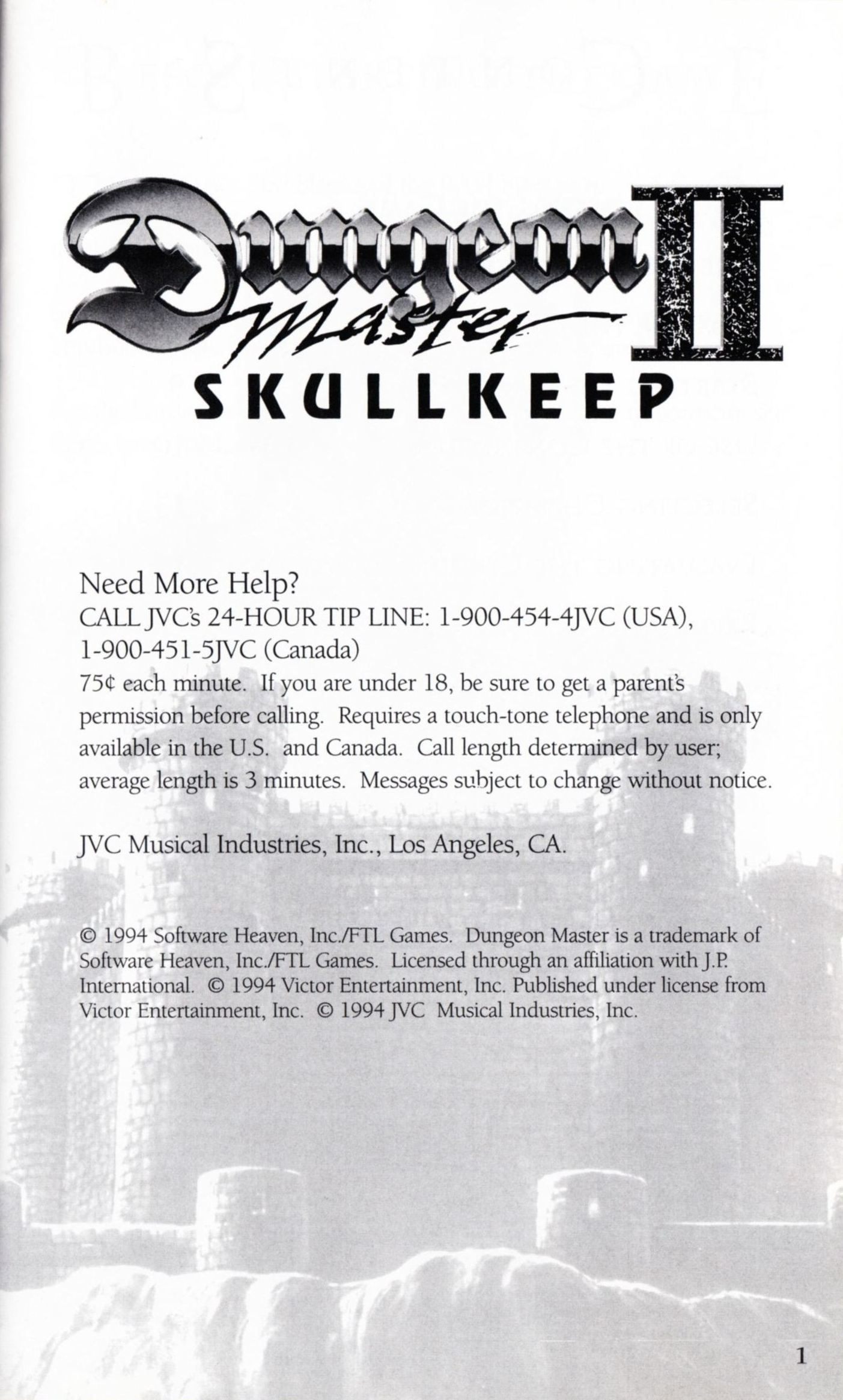 Game - Dungeon Master II - US - Sega CD - Booklet - Page 003 - Scan
