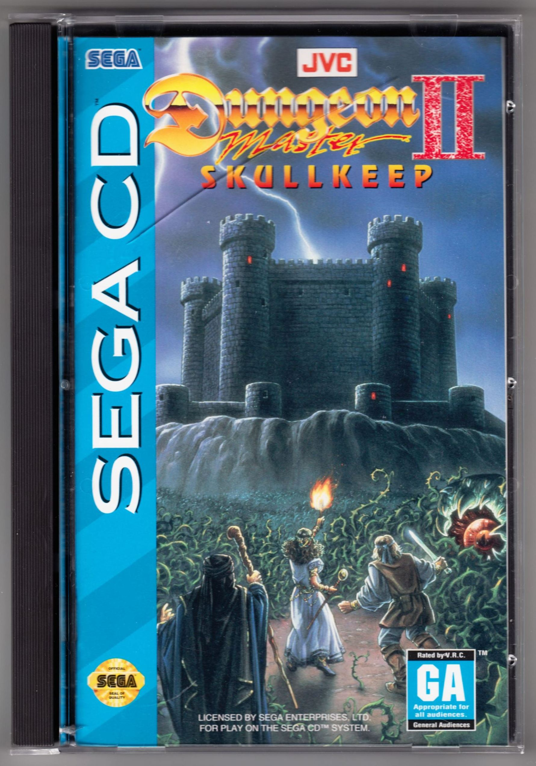 Game - Dungeon Master II - US - Sega CD - Box - Front - Scan