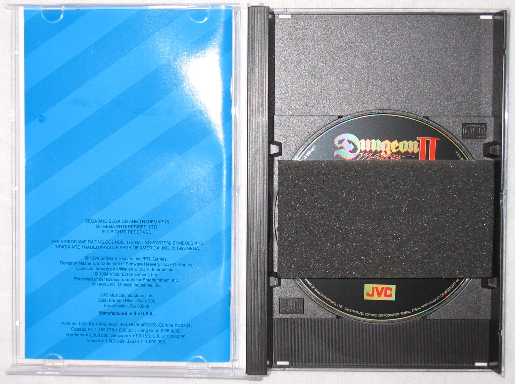 Game - Dungeon Master II - US - Sega CD - Box - Inside - Photo