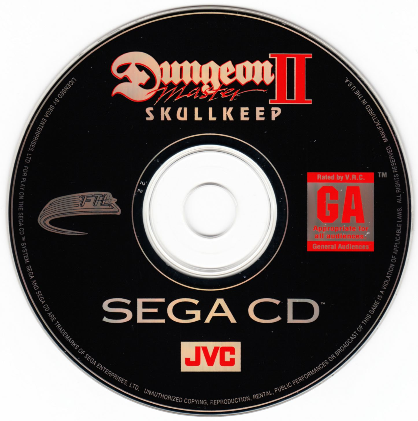 Game - Dungeon Master II - US - Sega CD - Compact Disc - Front - Scan