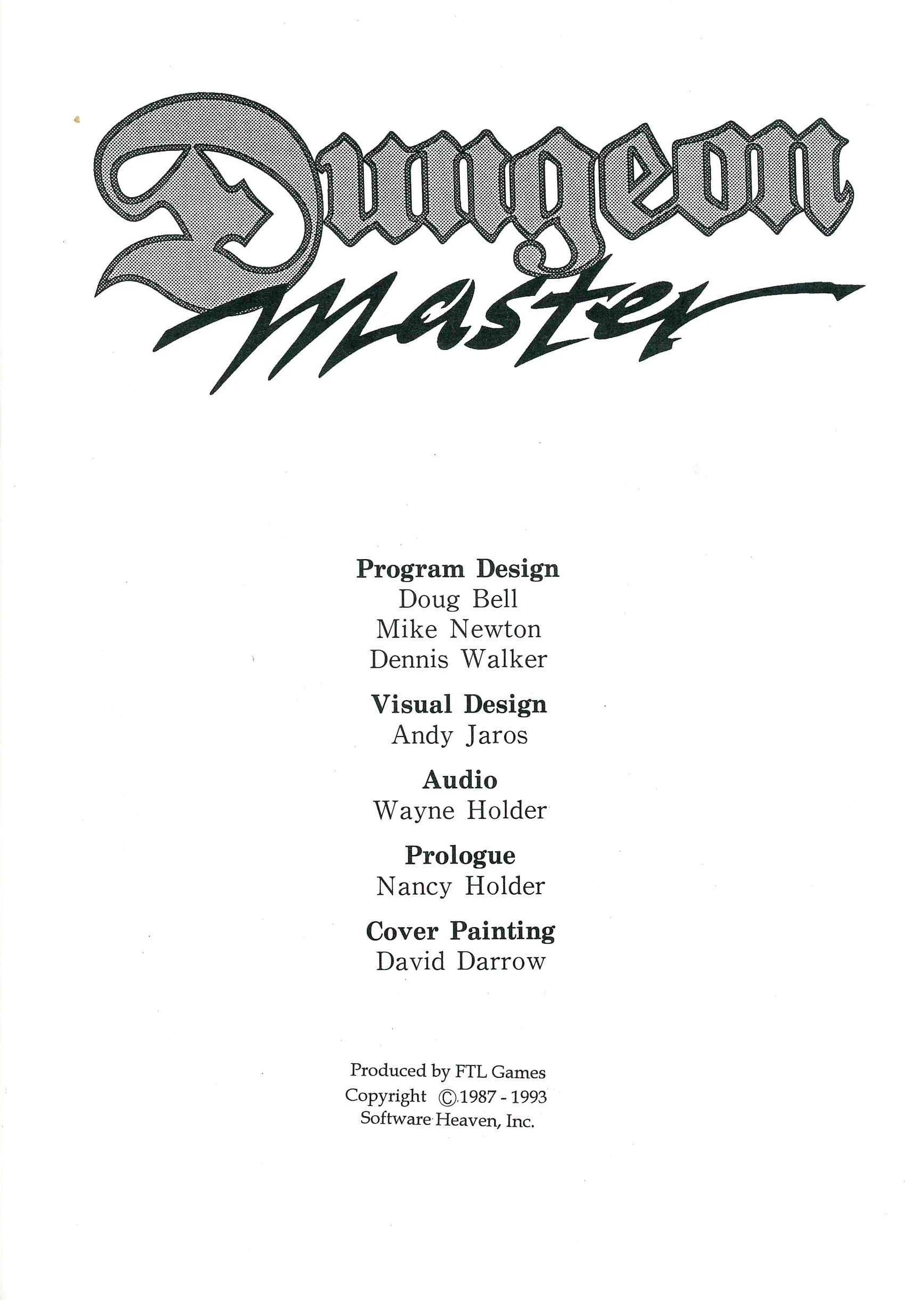 Game - Dungeon Master - CN - PC - Manual - Page 005 - Scan