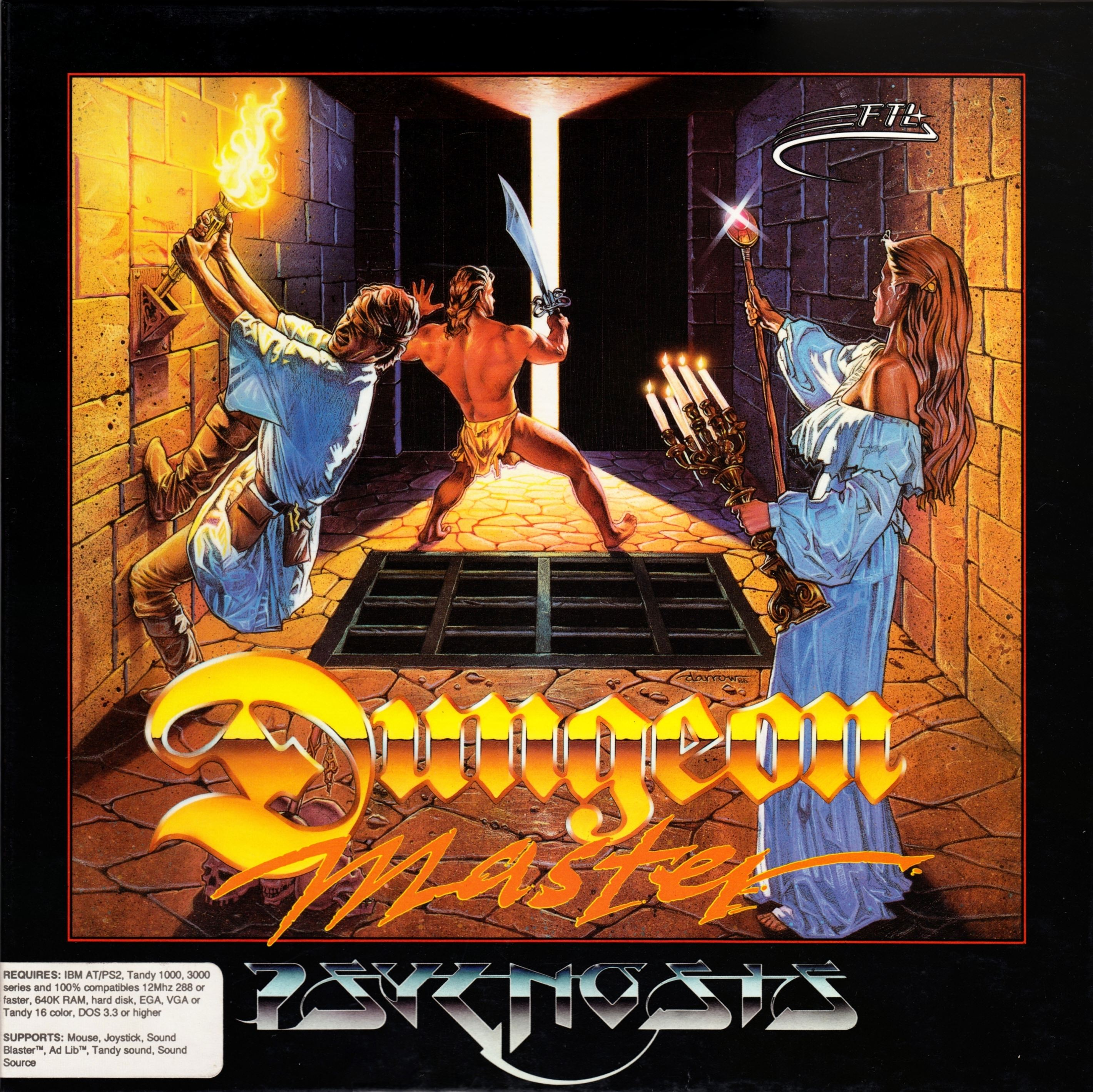 Game - Dungeon Master - DE - PC - Psygnosis - Box - Front - Scan