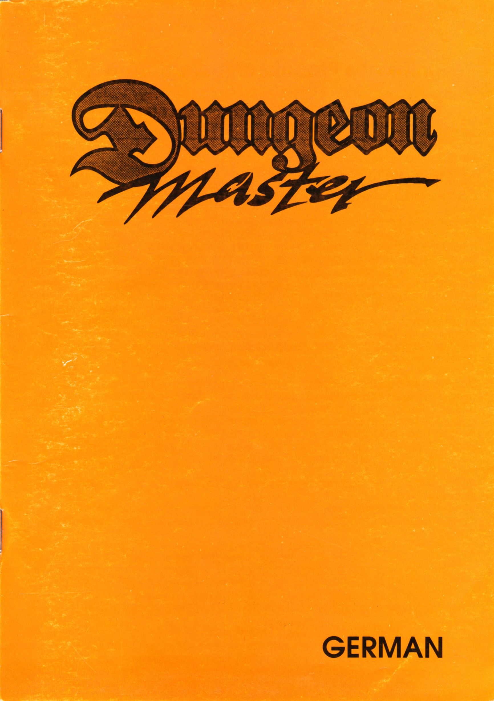 Game - Dungeon Master - DE - PC - Psygnosis - Manual - Page 001 - Scan