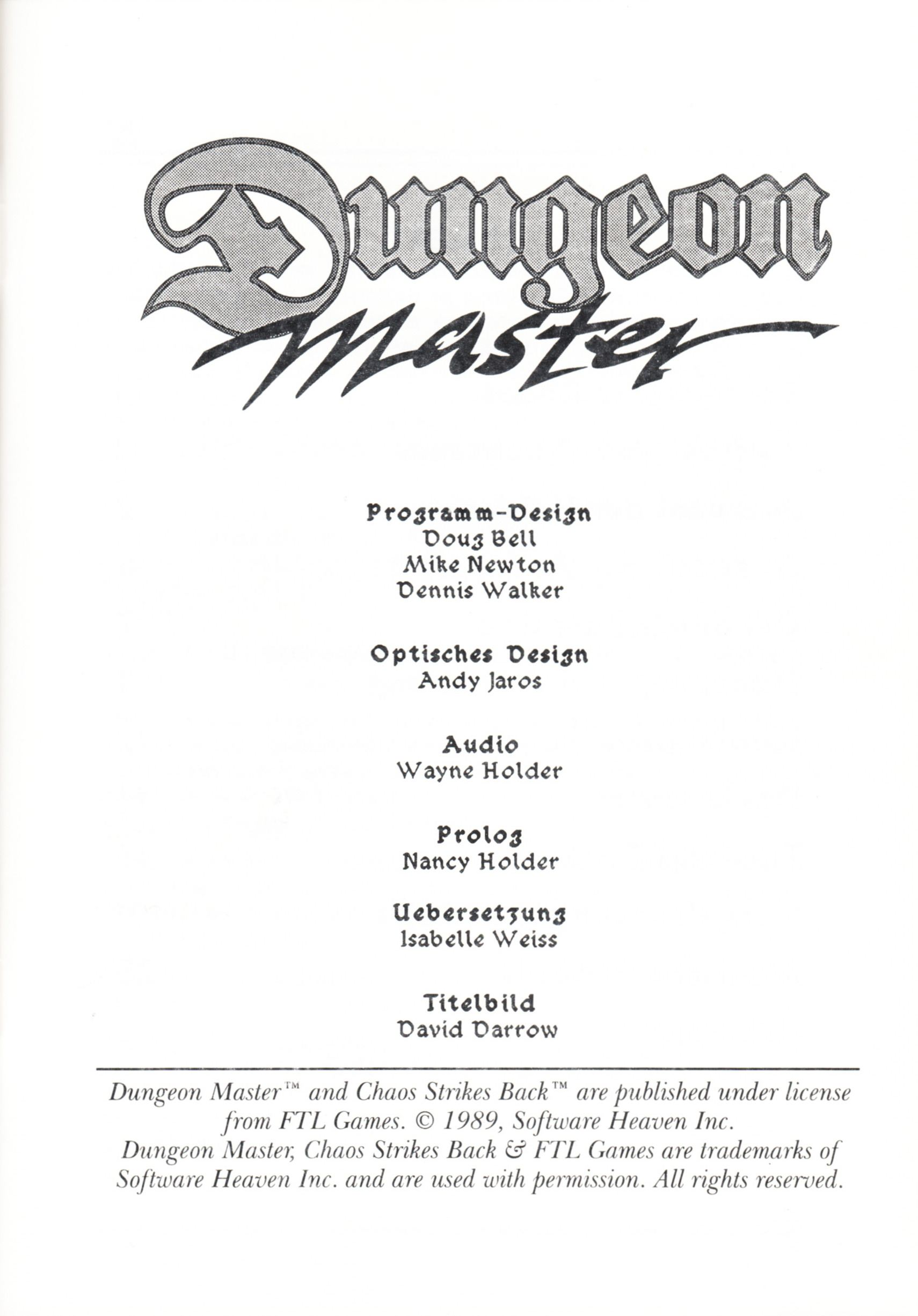 Game - Dungeon Master - DE - PC - Psygnosis - Manual - Page 003 - Scan