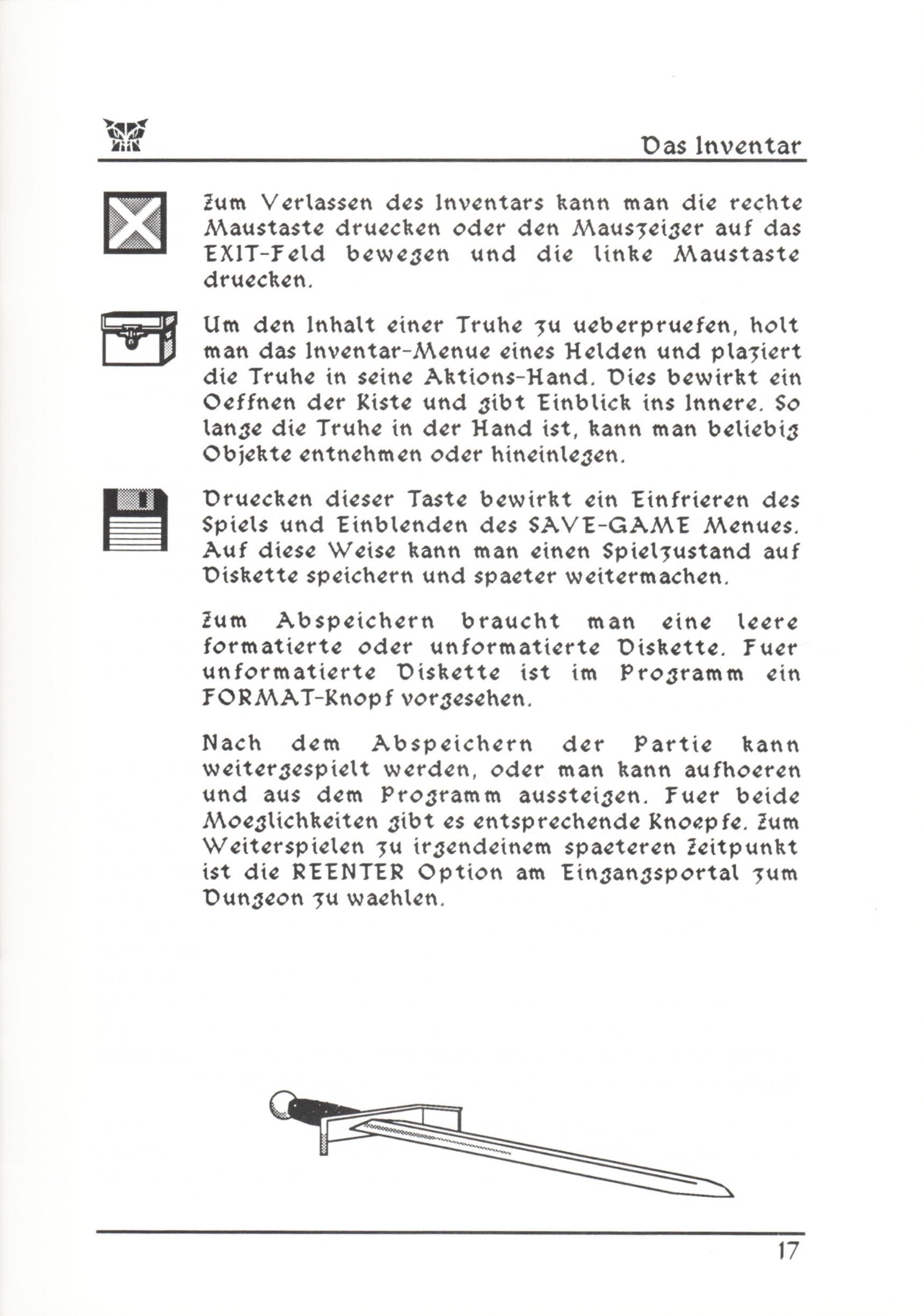 Game - Dungeon Master - DE - PC - Psygnosis - Manual - Page 043 - Scan