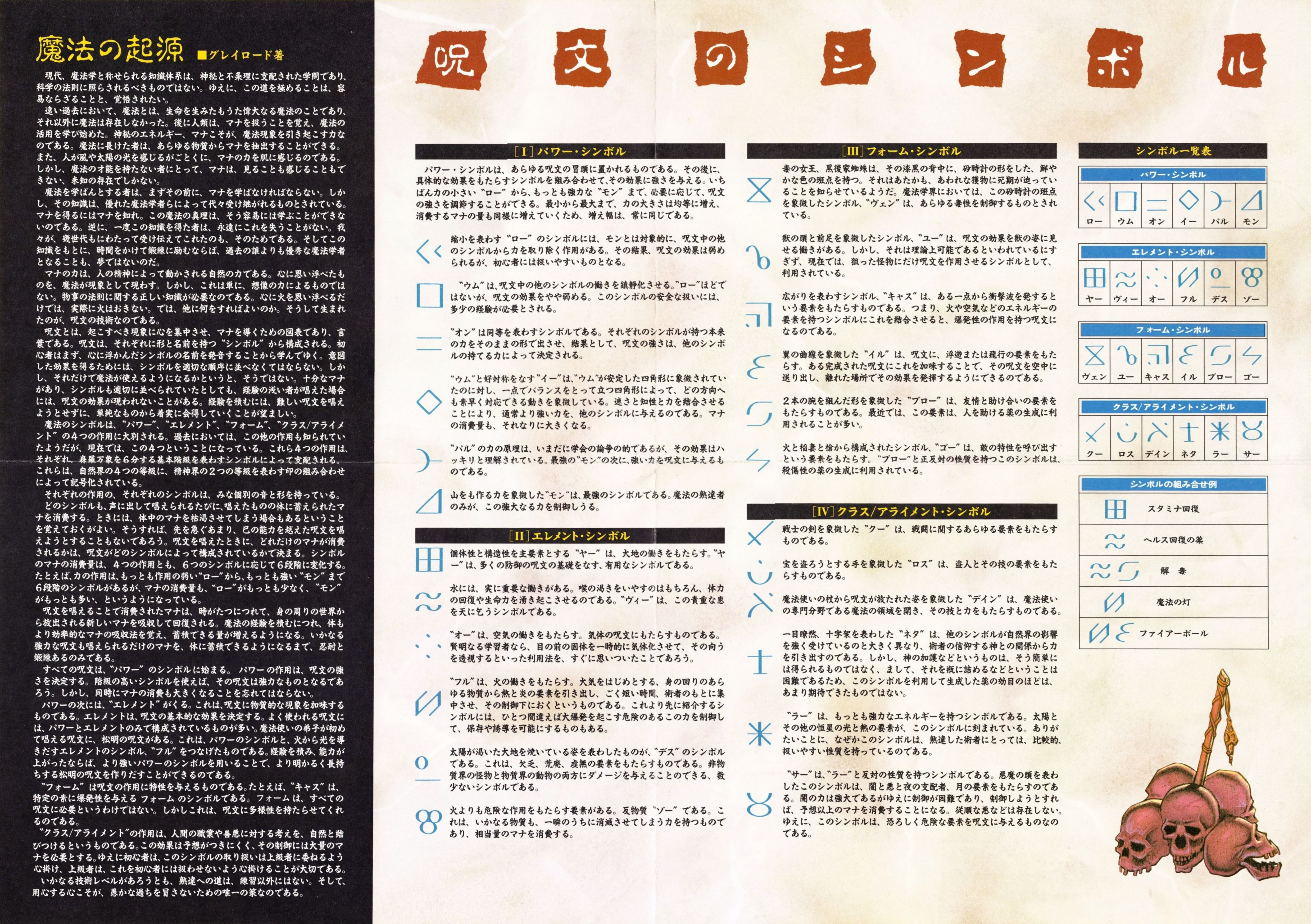 Game - Dungeon Master - JP - PC-9801 - 5.25-inch - Information Card - Back - Scan