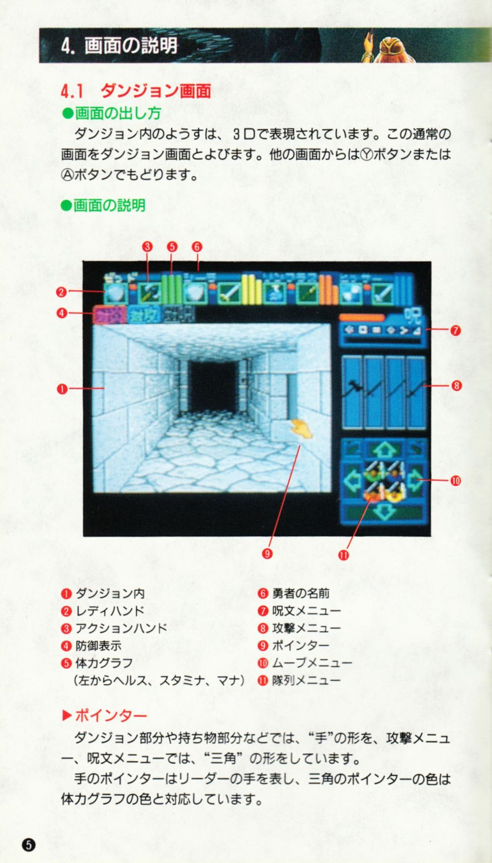 Game - Dungeon Master - JP - Super Famicom - Manual - Page 008 - Scan