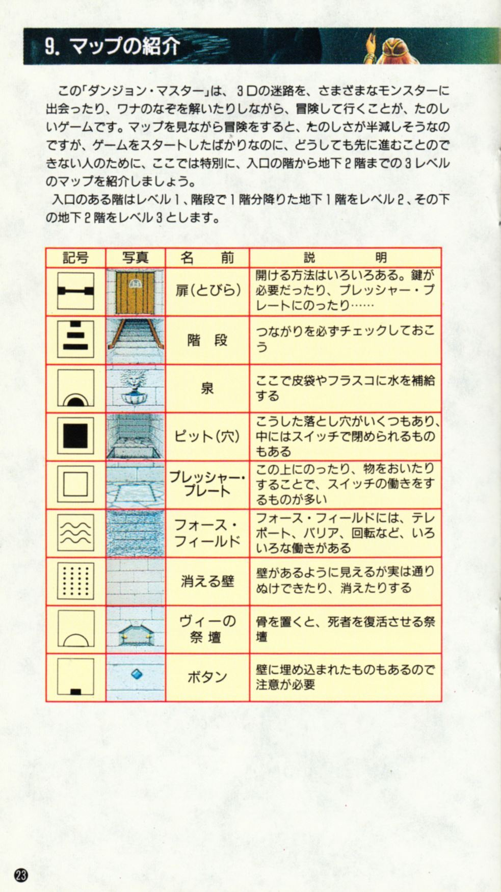 Game - Dungeon Master - JP - Super Famicom - Manual - Page 026 - Scan