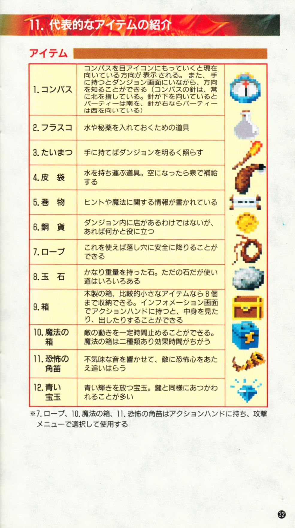 Game - Dungeon Master - JP - Super Famicom - Manual - Page 035 - Scan