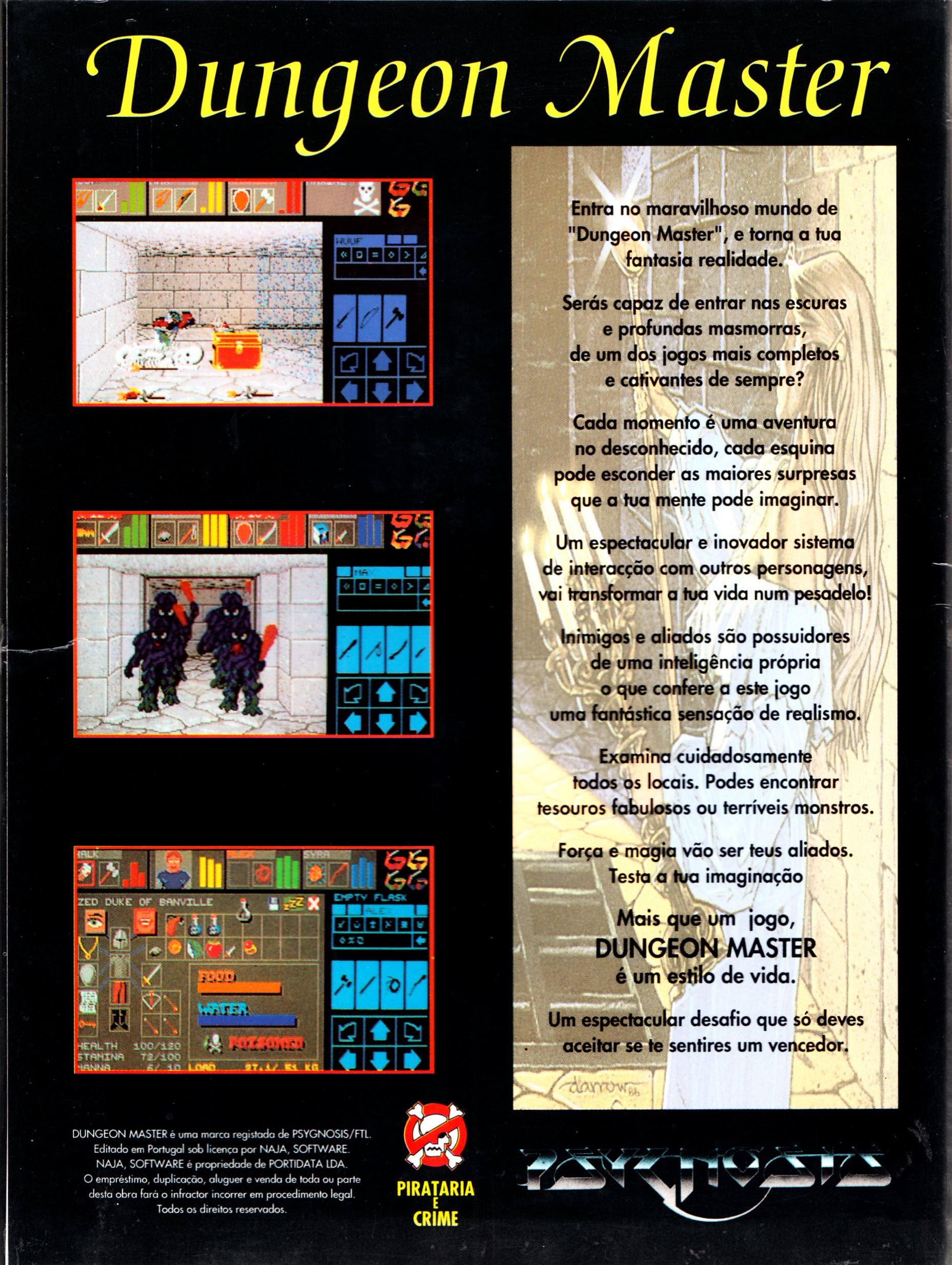 Game - Dungeon Master - PT - PC - Psygnosis - Box - Back - Scan