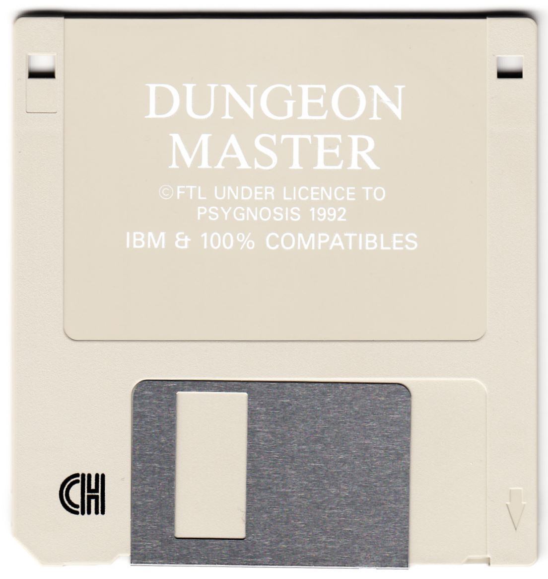 Game - Dungeon Master - PT - PC - Psygnosis - Game Disk - Front - Scan