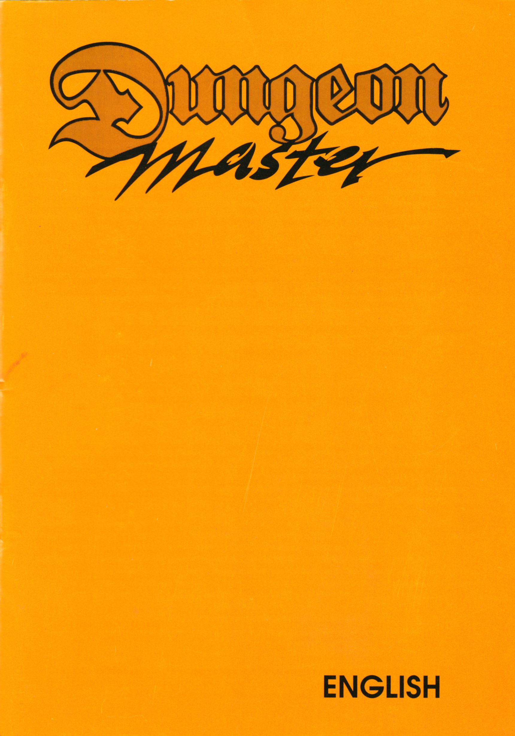 Game - Dungeon Master - UK - PC - Psygnosis - Manual - Page 001 - Scan
