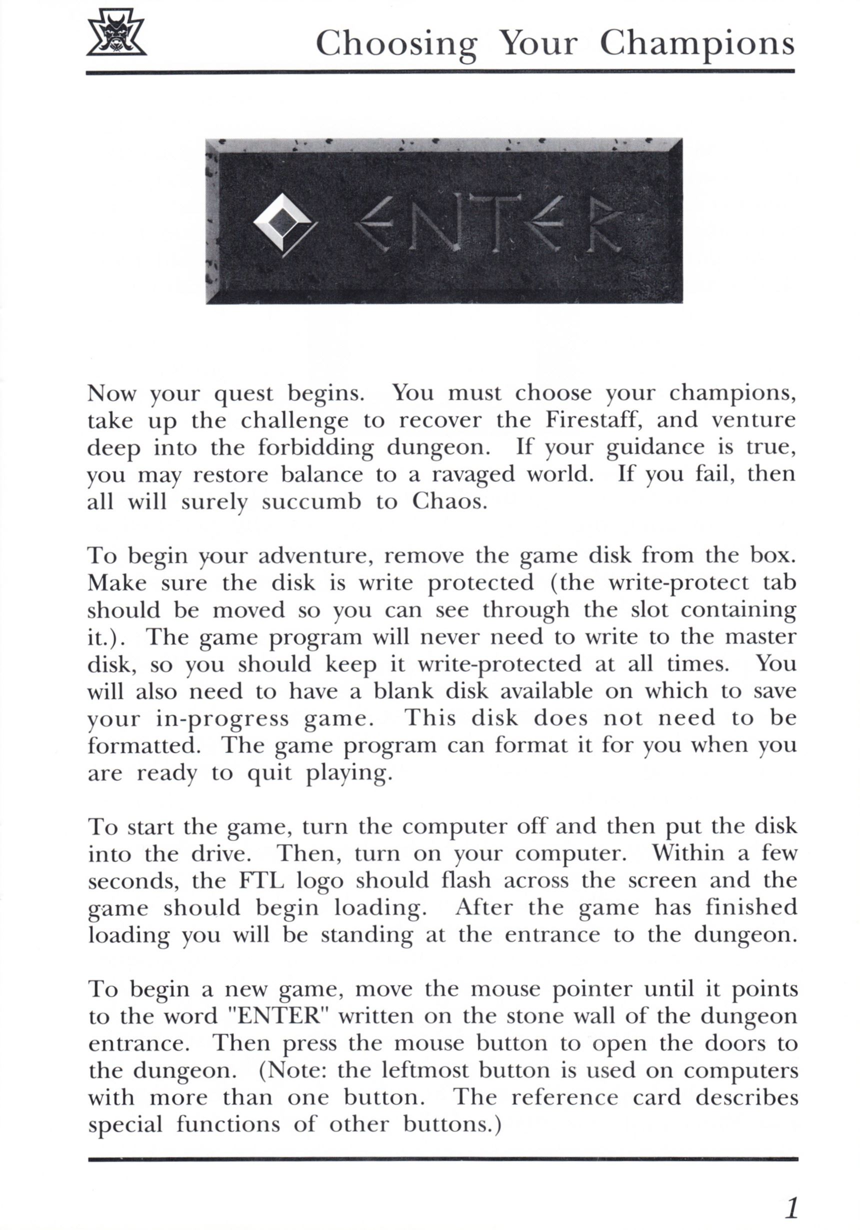 Game - Dungeon Master - UK - PC - Psygnosis - Manual - Page 021 - Scan