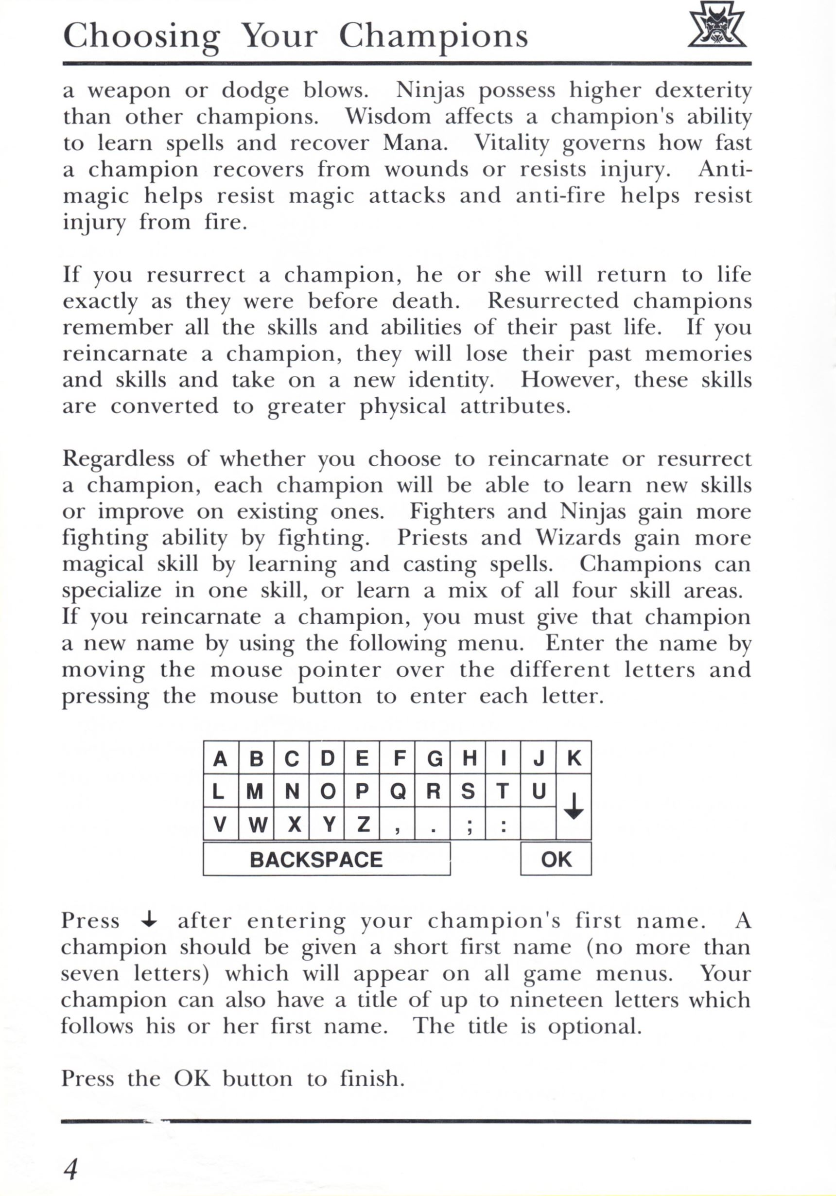 Game - Dungeon Master - UK - PC - Psygnosis - Manual - Page 024 - Scan