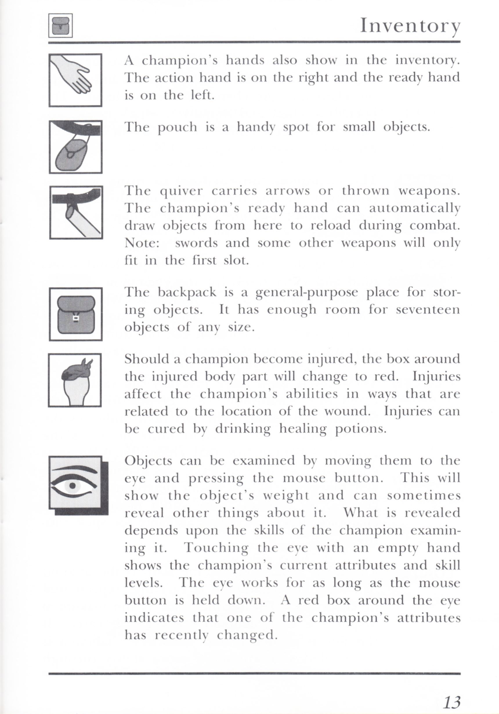 Game - Dungeon Master - UK - PC - Psygnosis - Manual - Page 033 - Scan