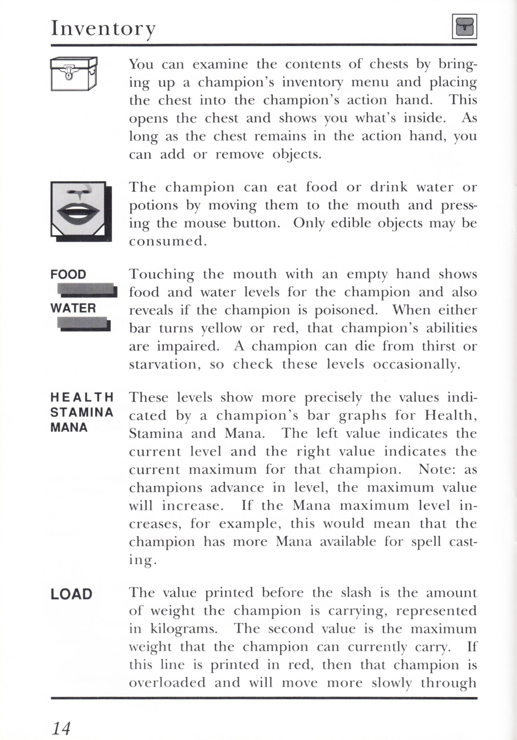Game - Dungeon Master - UK - PC - Psygnosis - Manual - Page 034 - Scan
