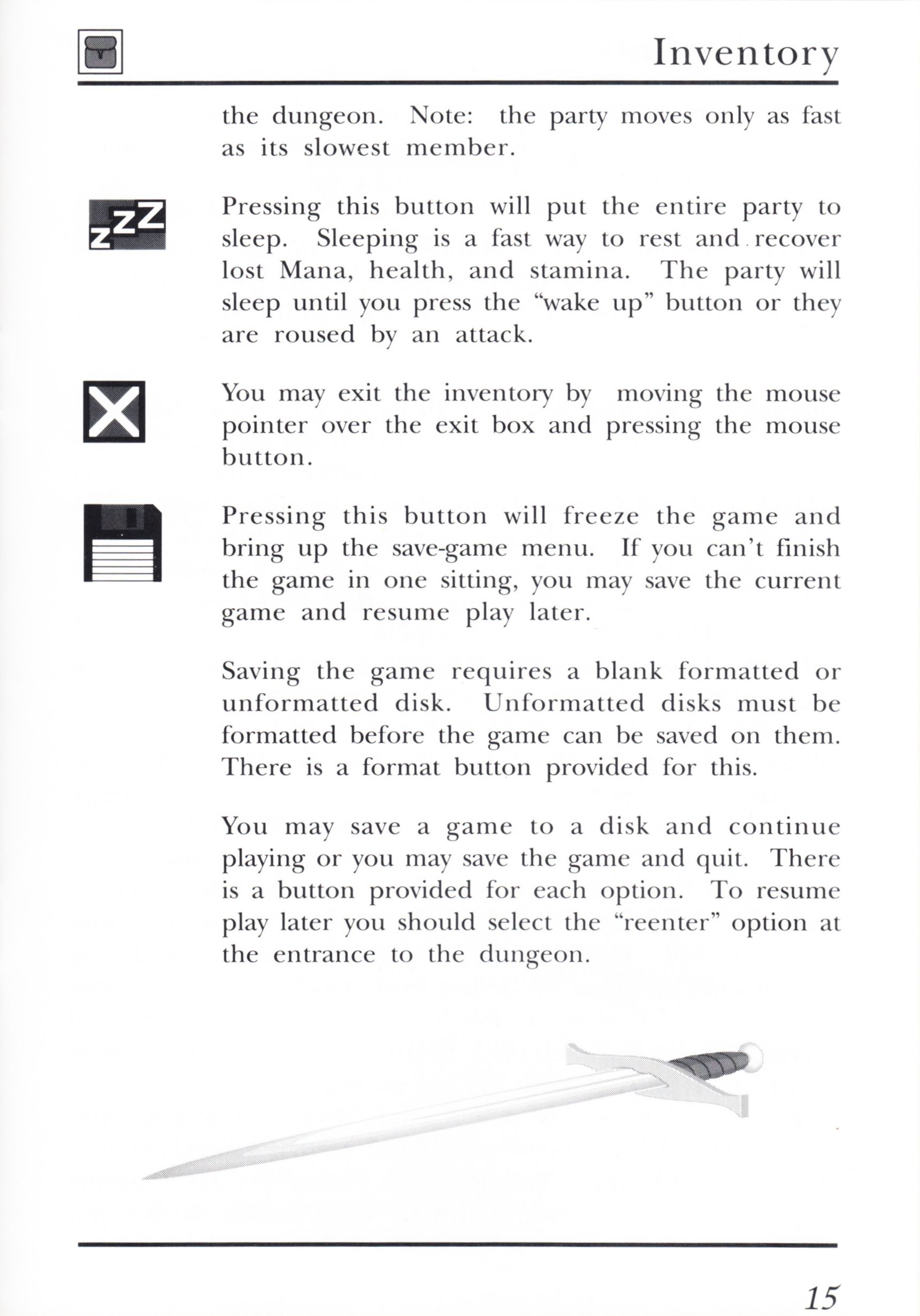 Game - Dungeon Master - UK - PC - Psygnosis - Manual - Page 035 - Scan