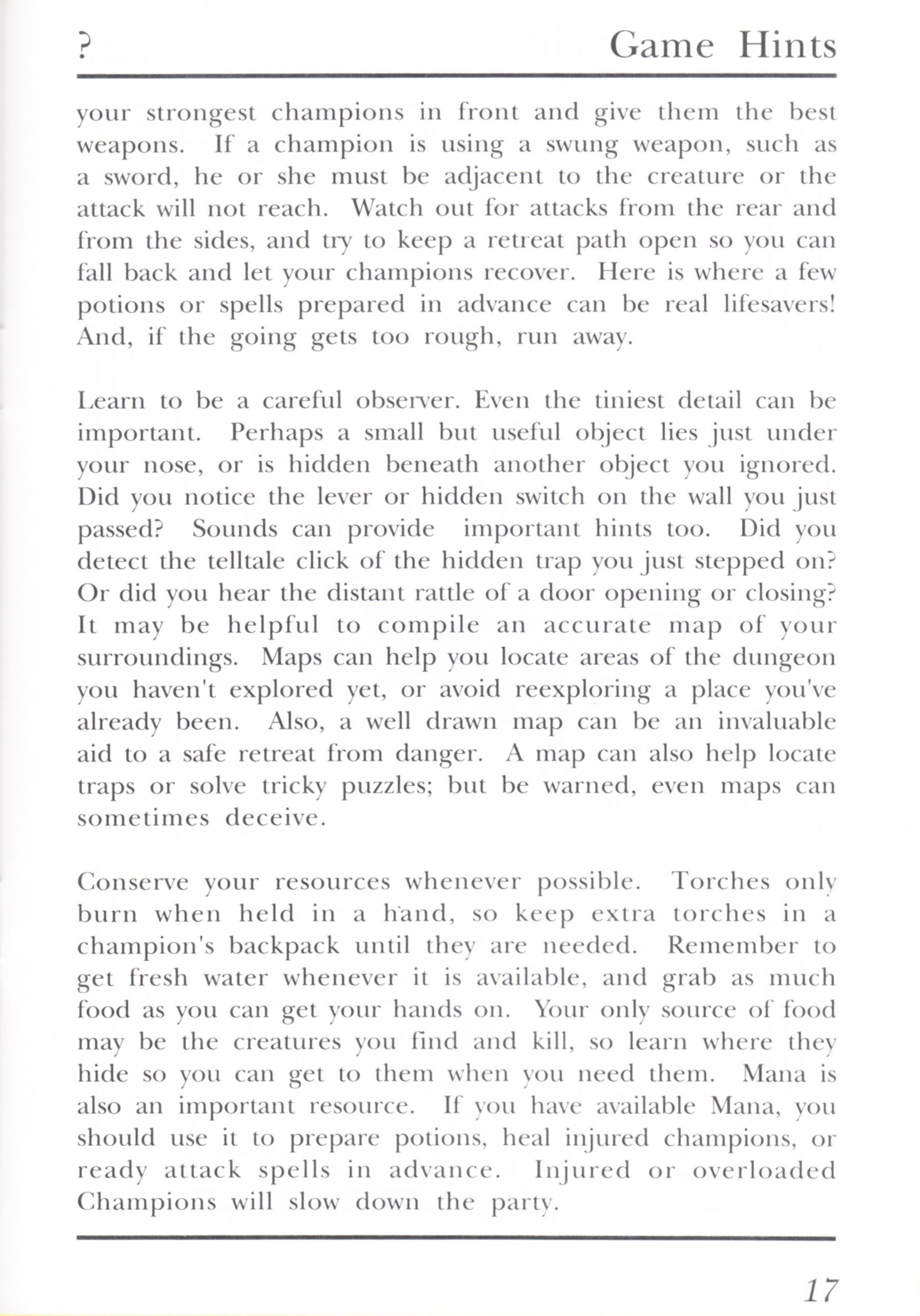 Game - Dungeon Master - UK - PC - Psygnosis - Manual - Page 037 - Scan