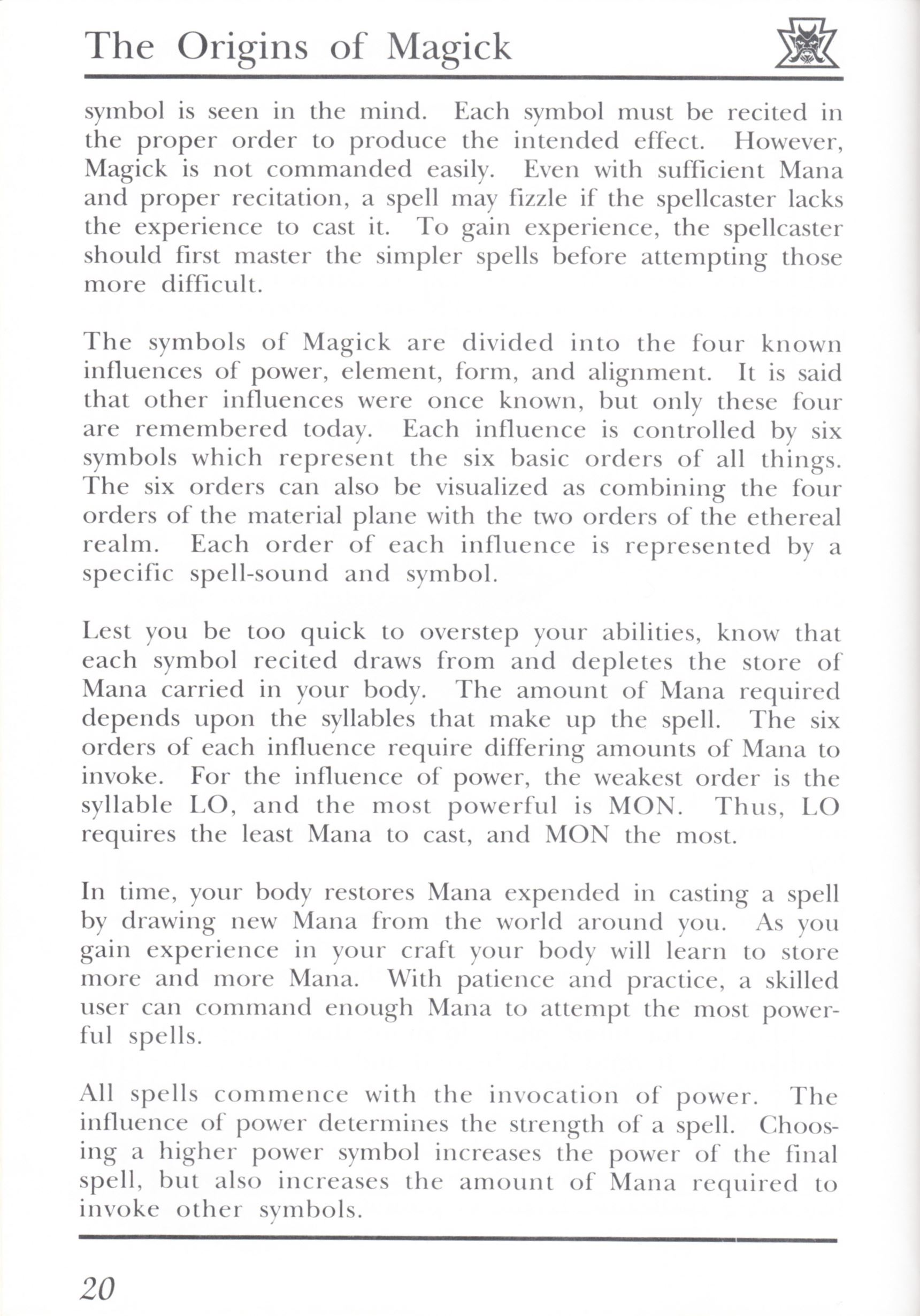 Game - Dungeon Master - UK - PC - Psygnosis - Manual - Page 040 - Scan