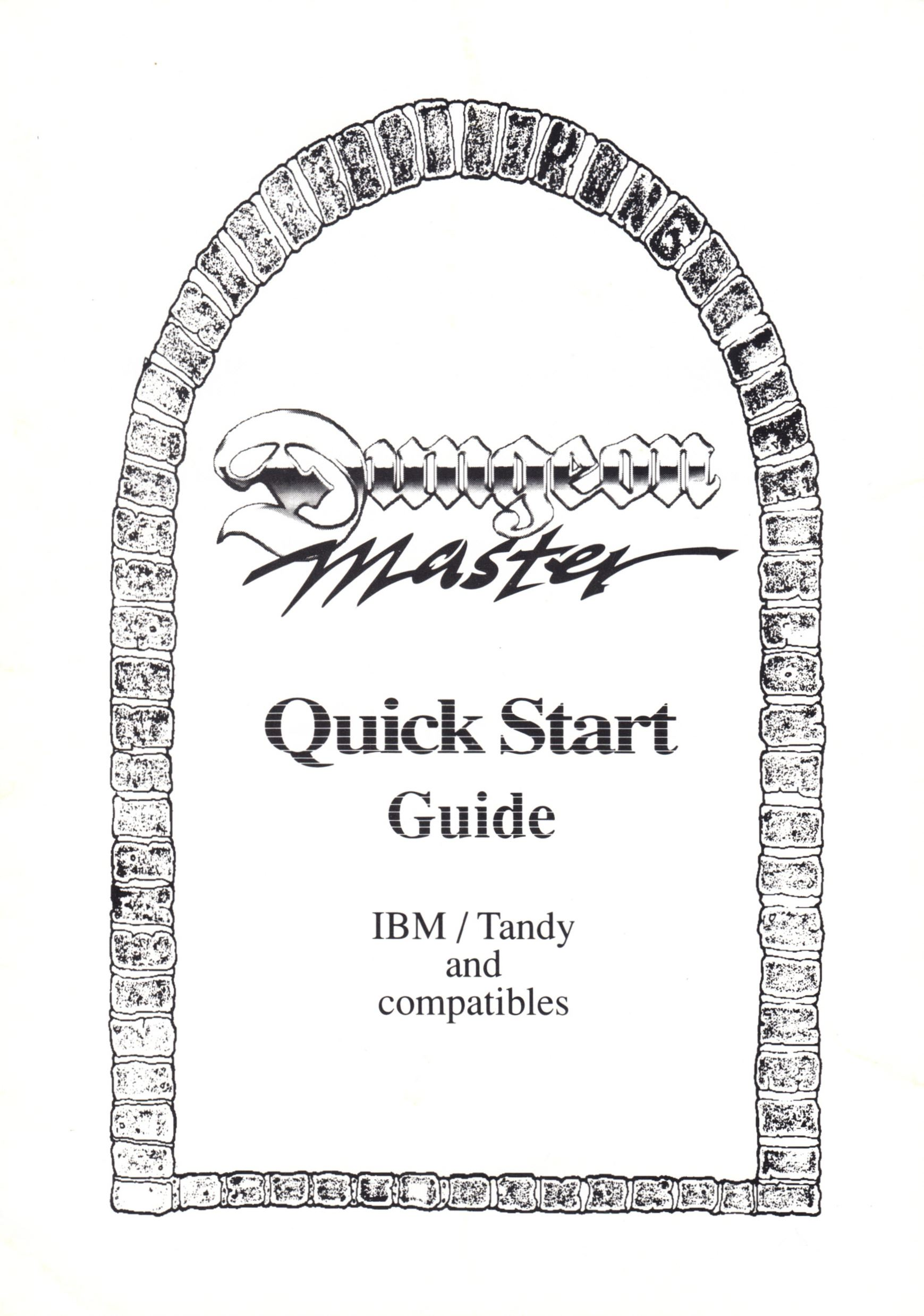 Game - Dungeon Master - UK - PC - Psygnosis - Quick Start Guide - Page 001 - Scan