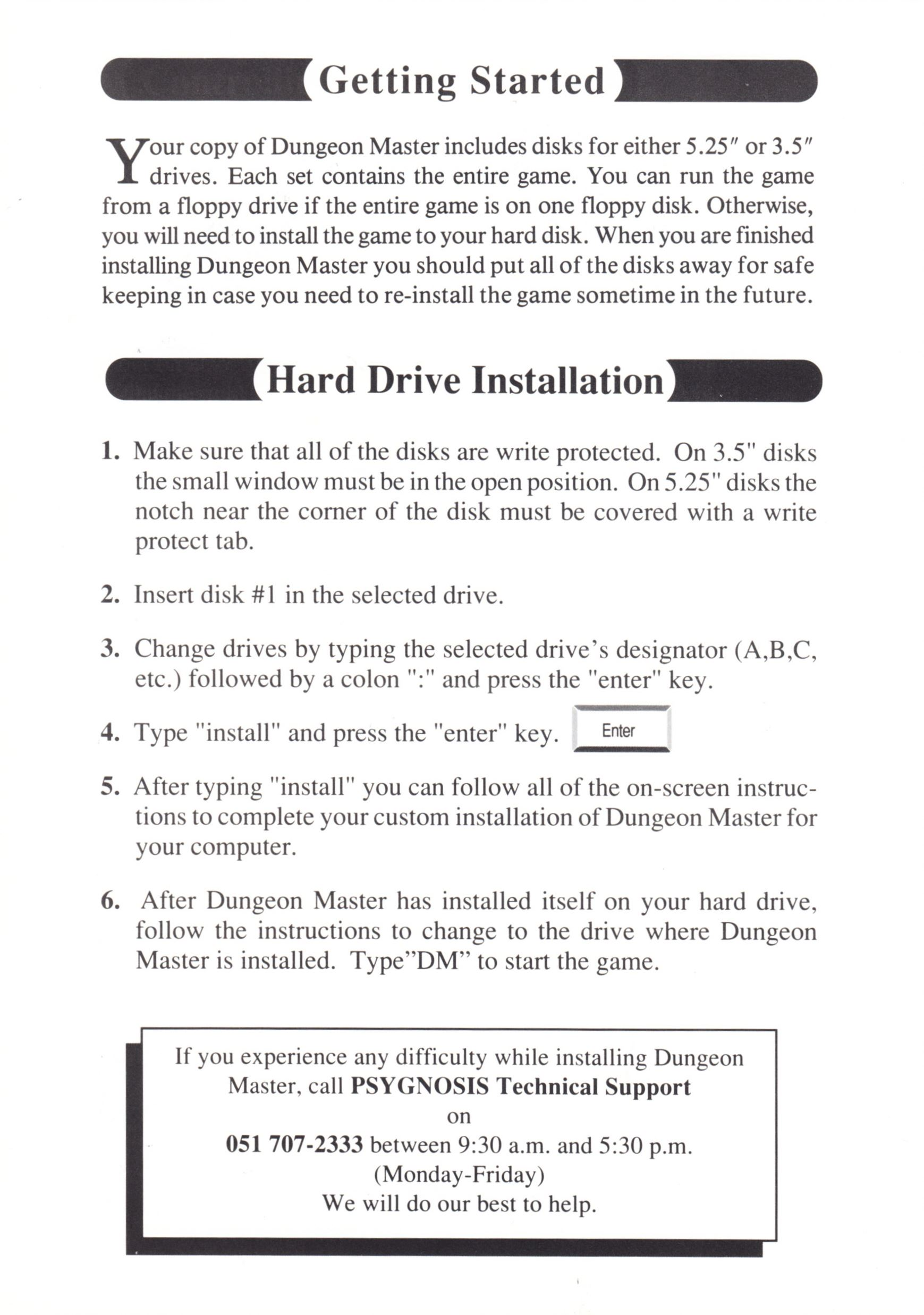Game - Dungeon Master - UK - PC - Psygnosis - Quick Start Guide - Page 002 - Scan