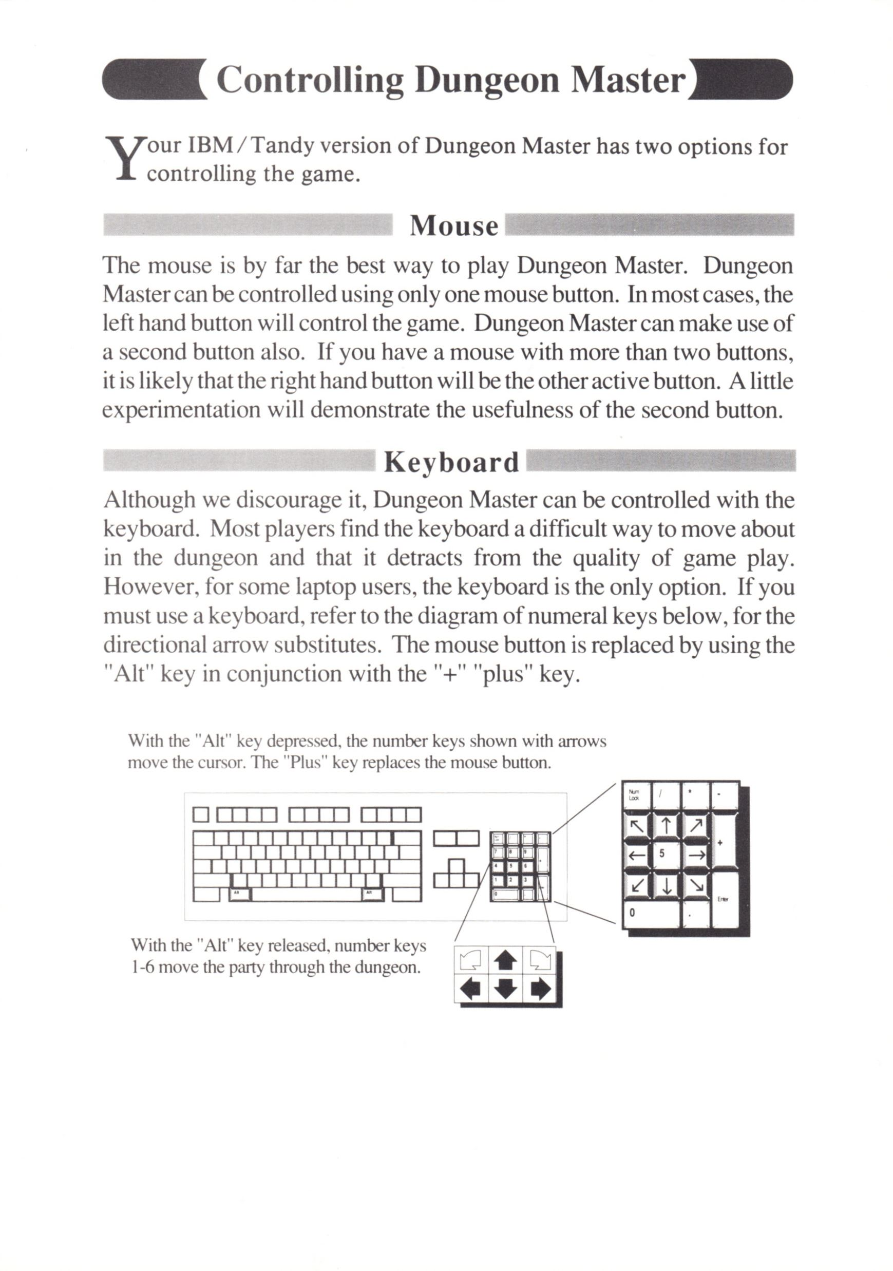 Game - Dungeon Master - UK - PC - Psygnosis - Quick Start Guide - Page 003 - Scan
