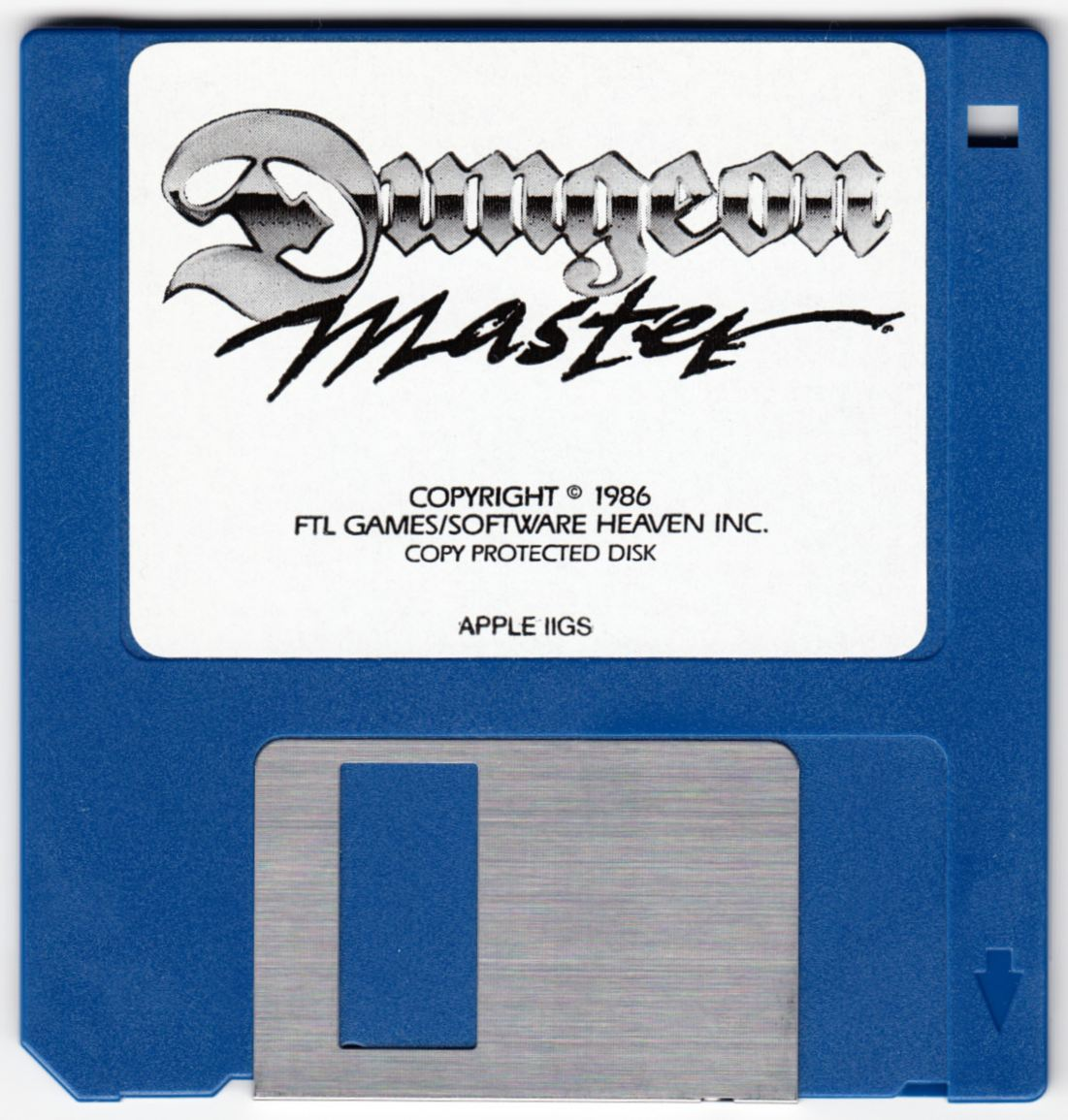 Game - Dungeon Master - US - Apple IIGS - Floppy Disk - Front - Scan