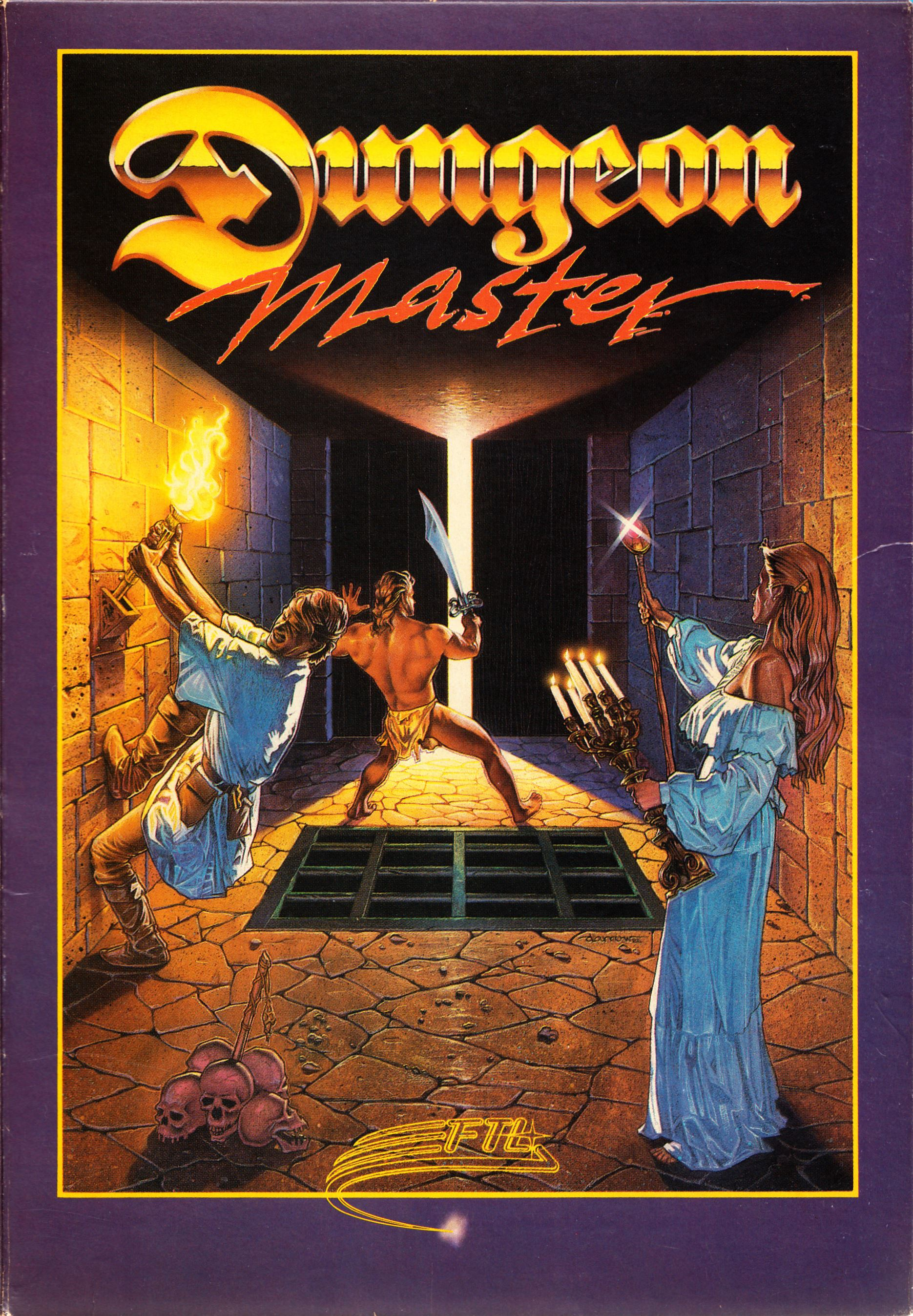 Game - Dungeon Master - US - Atari ST - Early Box - Box - Front - Scan