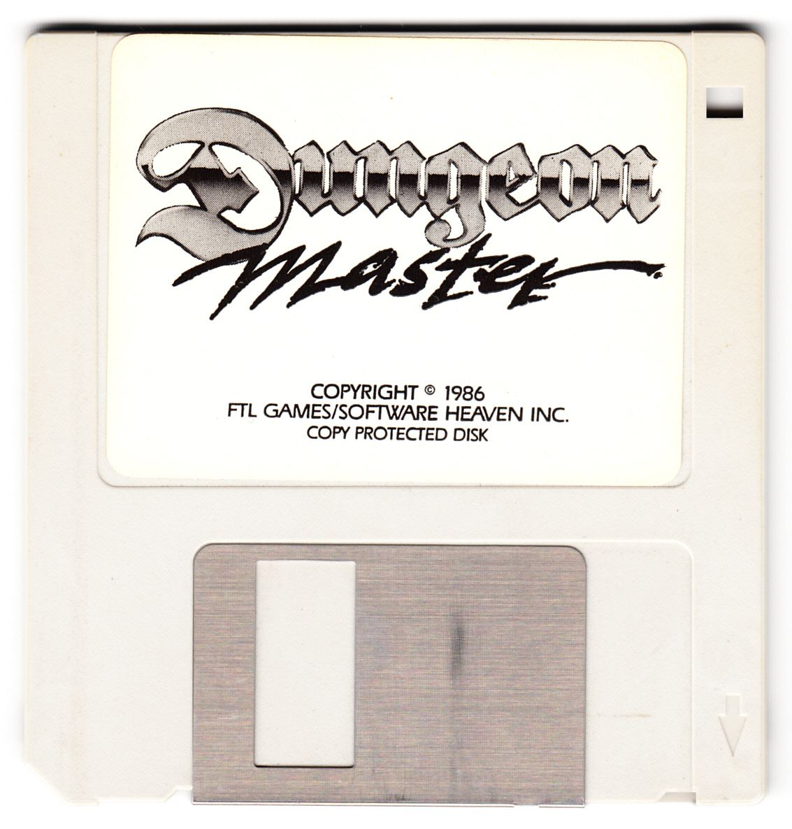 Game - Dungeon Master - US - Atari ST - Early Box - Game Disk - Front - Scan