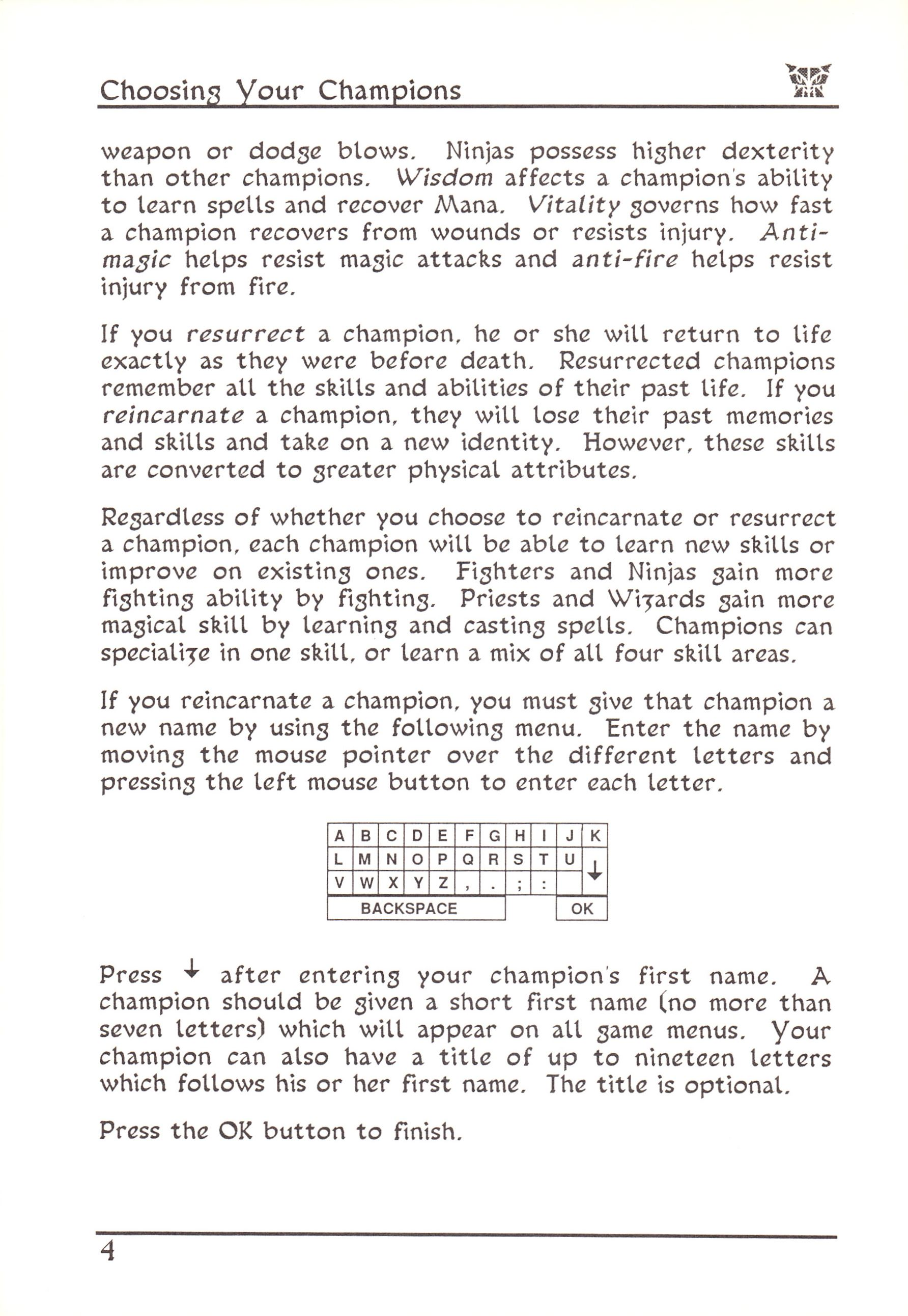 Game - Dungeon Master - US - Atari ST - Early Box - Manual - Page 028 - Scan