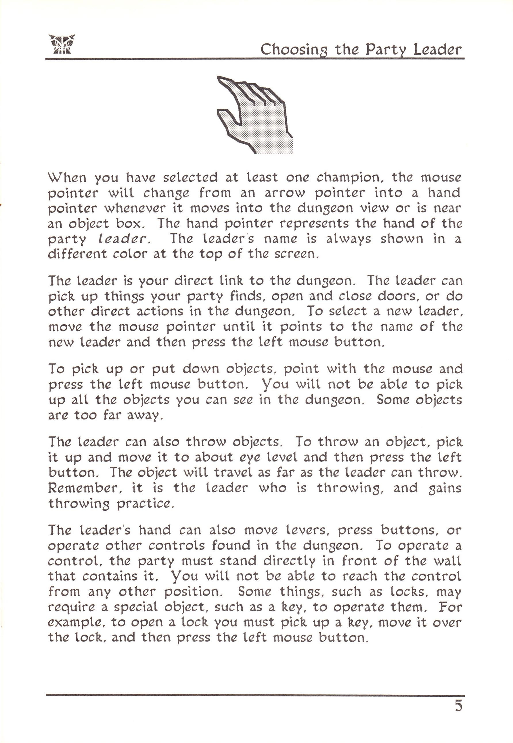 Game - Dungeon Master - US - Atari ST - Early Box - Manual - Page 029 - Scan