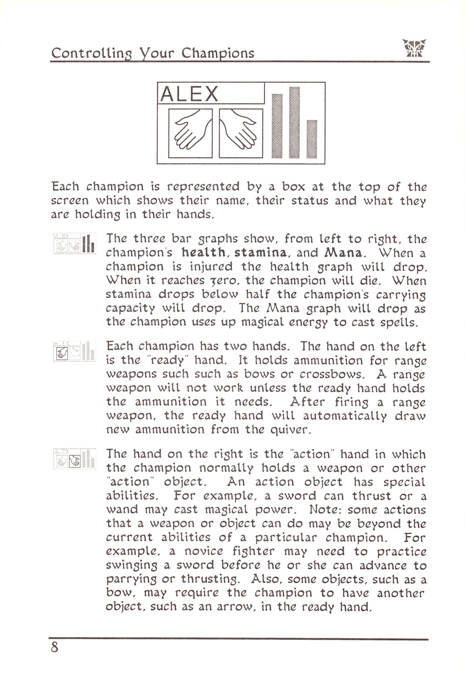 Game - Dungeon Master - US - Atari ST - Early Box - Manual - Page 032 - Scan