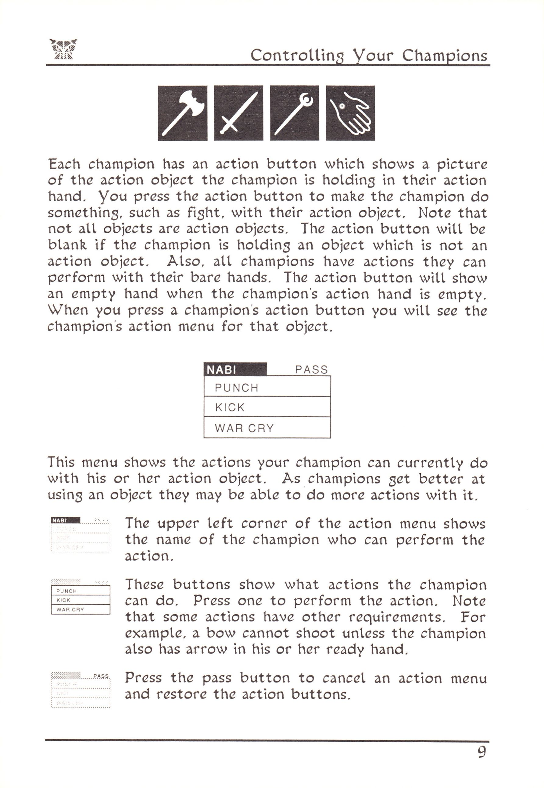 Game - Dungeon Master - US - Atari ST - Early Box - Manual - Page 033 - Scan