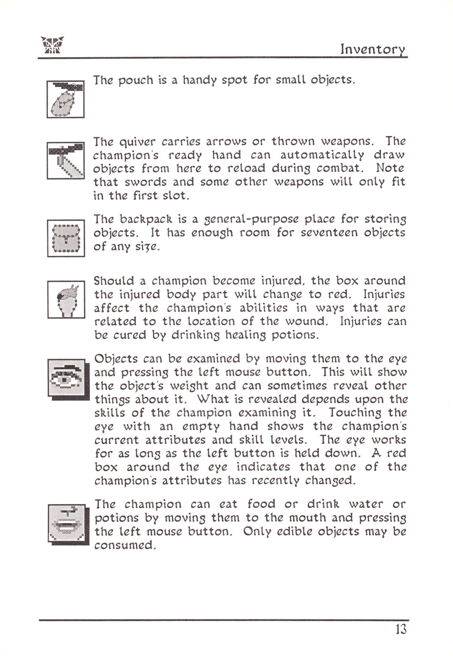 Game - Dungeon Master - US - Atari ST - Early Box - Manual - Page 037 - Scan