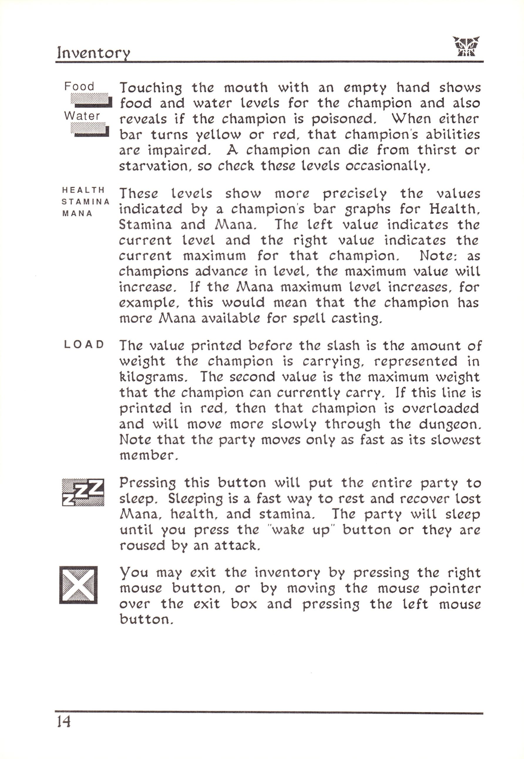 Game - Dungeon Master - US - Atari ST - Early Box - Manual - Page 038 - Scan