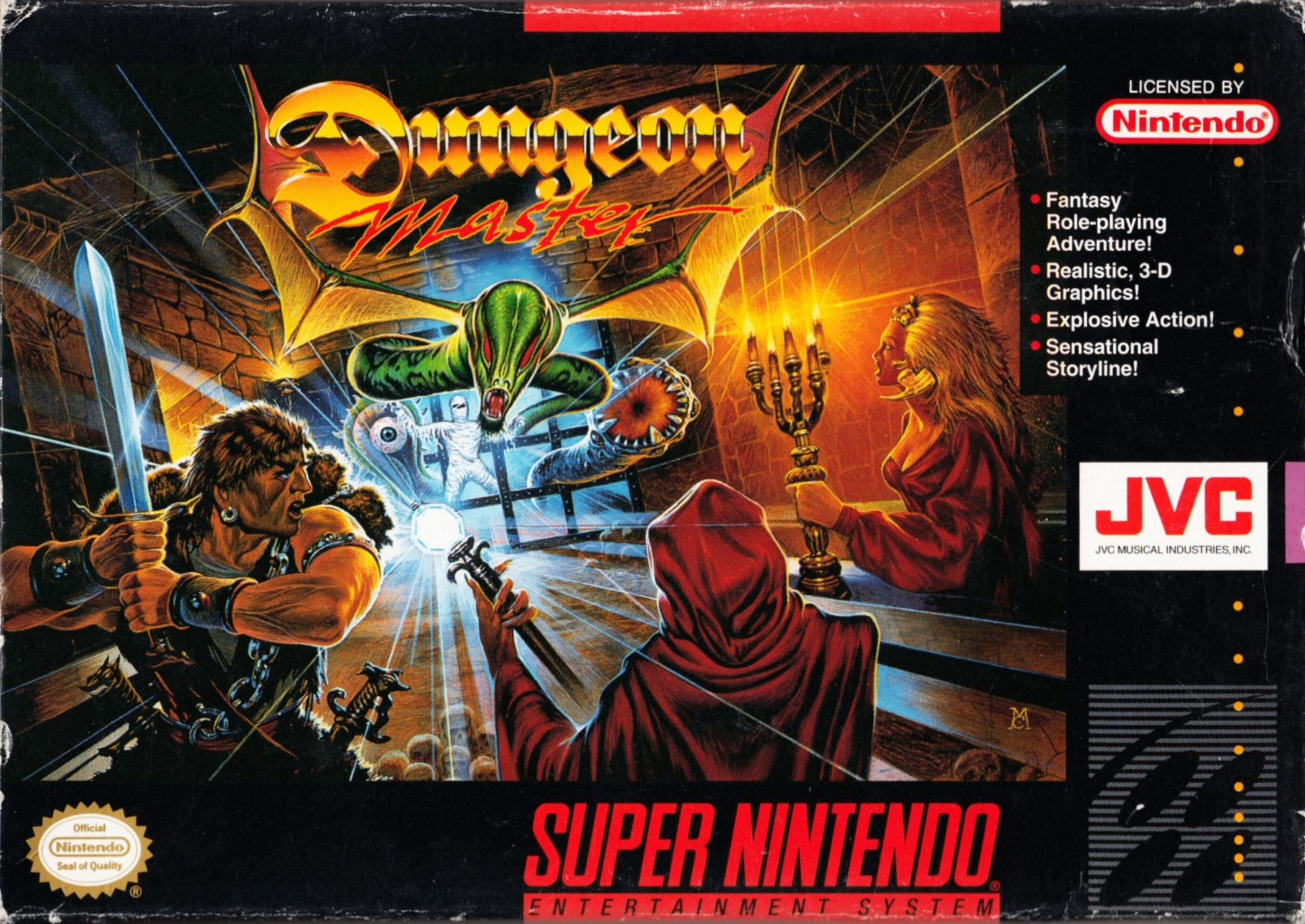 Game - Dungeon Master - US - Super NES - Box - Front - Scan
