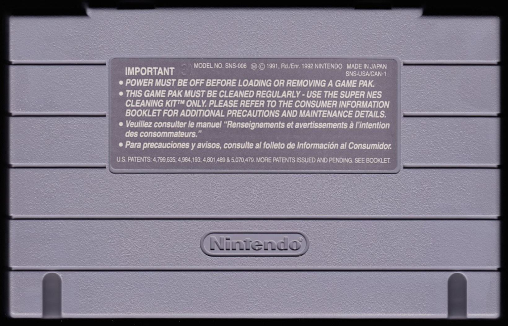 Game - Dungeon Master - US - Super NES - Cartridge With #34 - Back - Scan