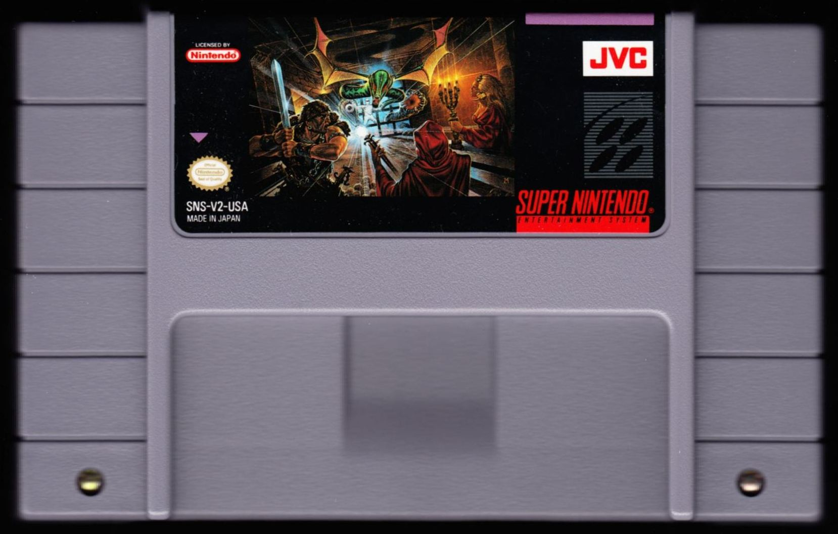 Game - Dungeon Master - US - Super NES - Cartridge - Front - Scan