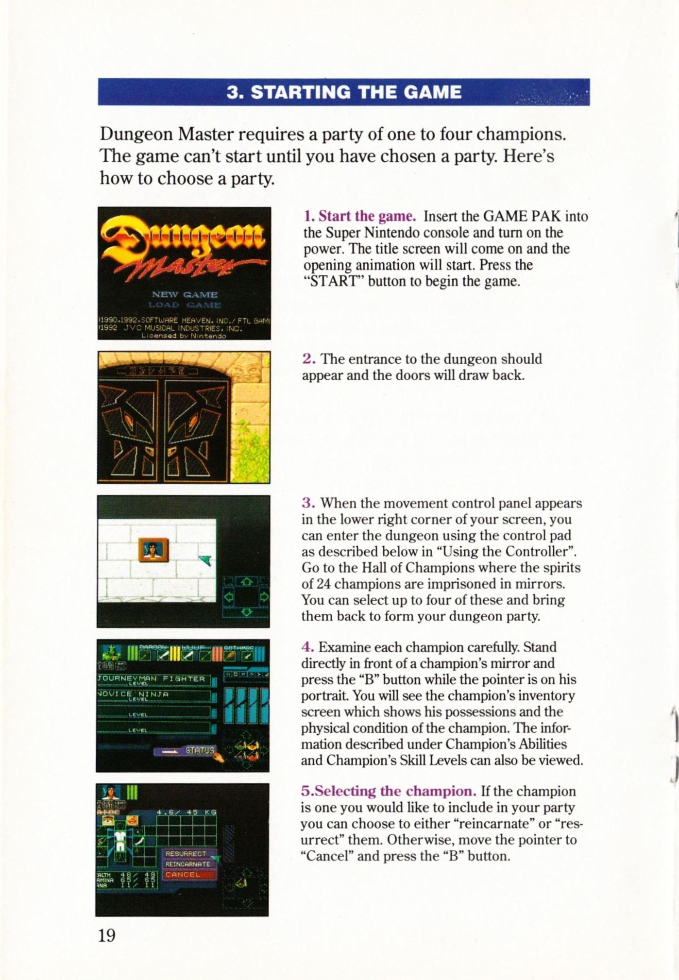 Game - Dungeon Master - US - Super NES - Manual - Page 022 - Scan