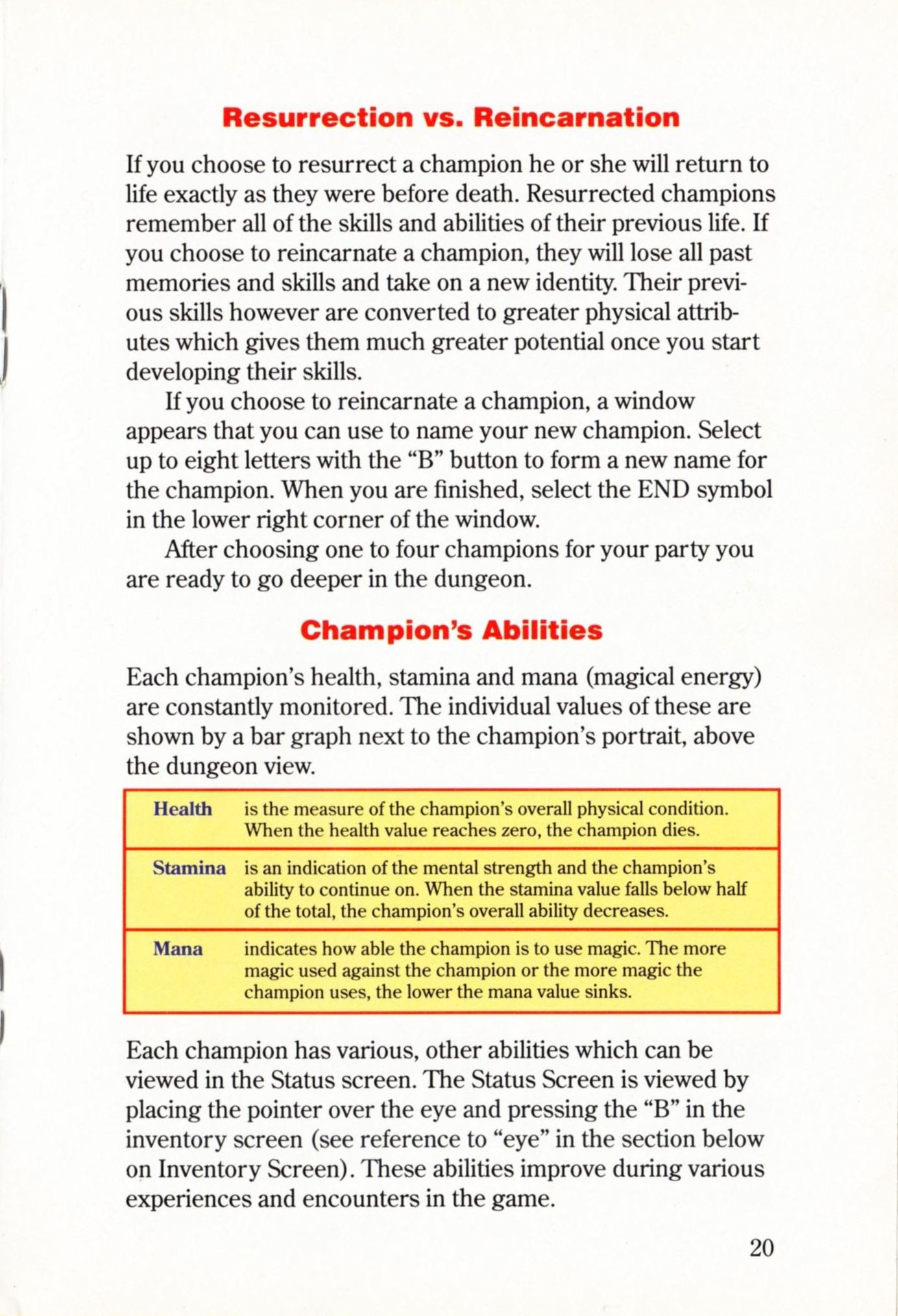 Game - Dungeon Master - US - Super NES - Manual - Page 023 - Scan