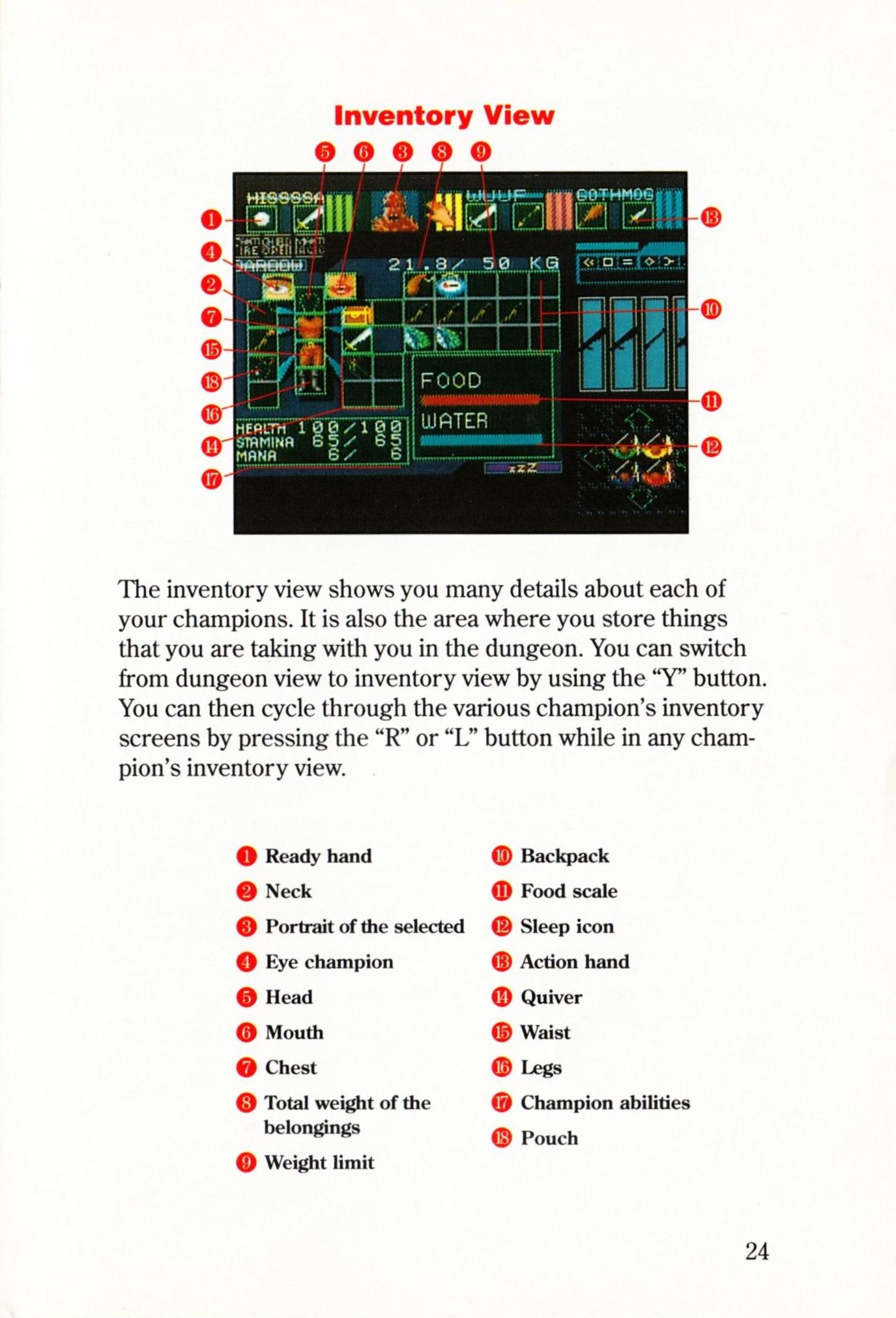 Game - Dungeon Master - US - Super NES - Manual - Page 027 - Scan
