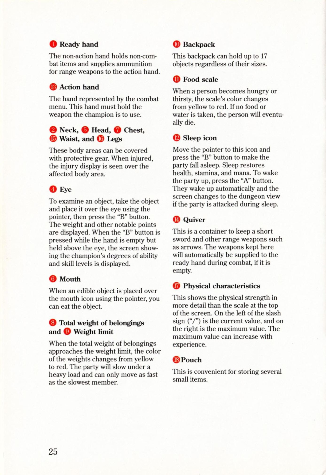 Game - Dungeon Master - US - Super NES - Manual - Page 028 - Scan