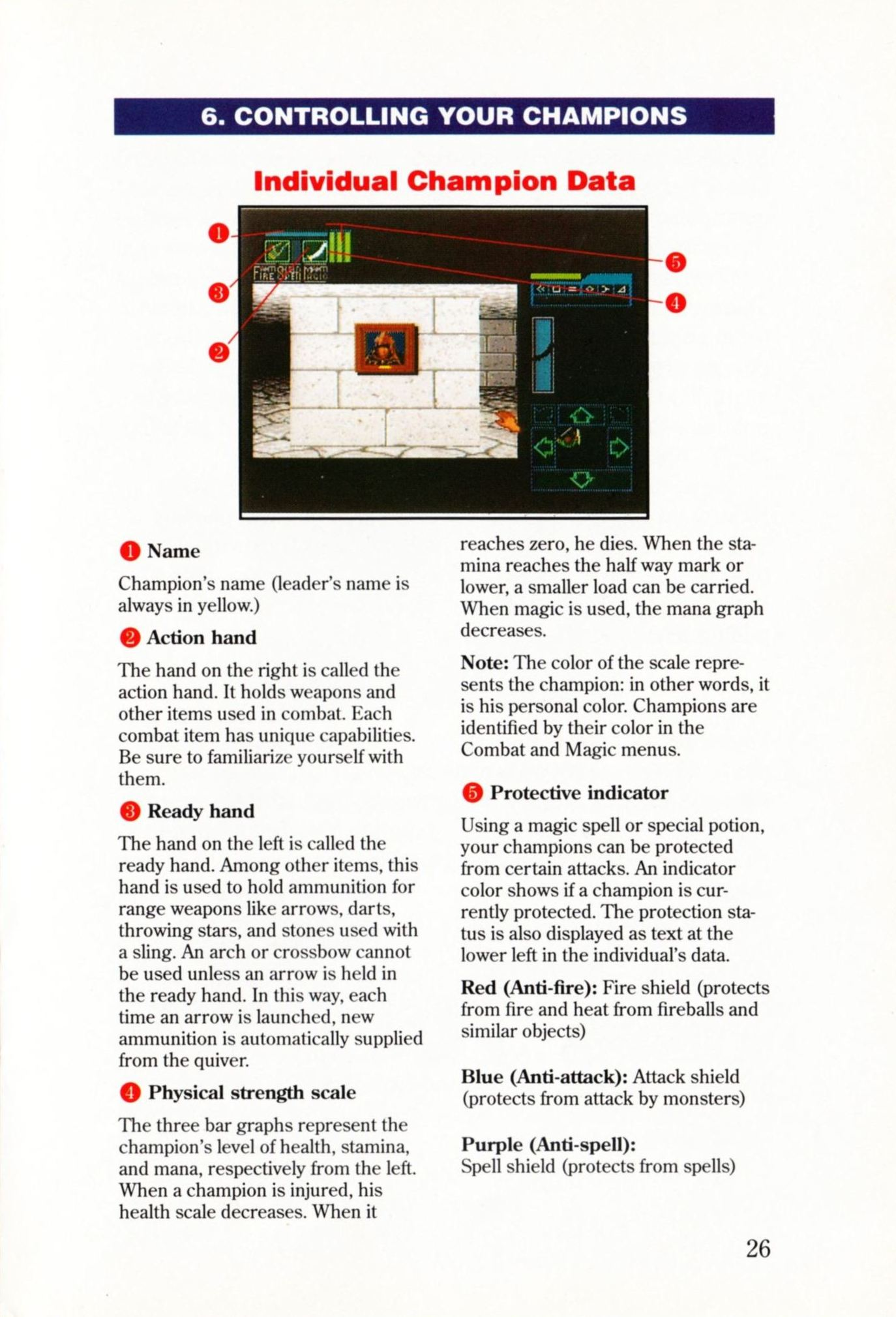 Game - Dungeon Master - US - Super NES - Manual - Page 029 - Scan