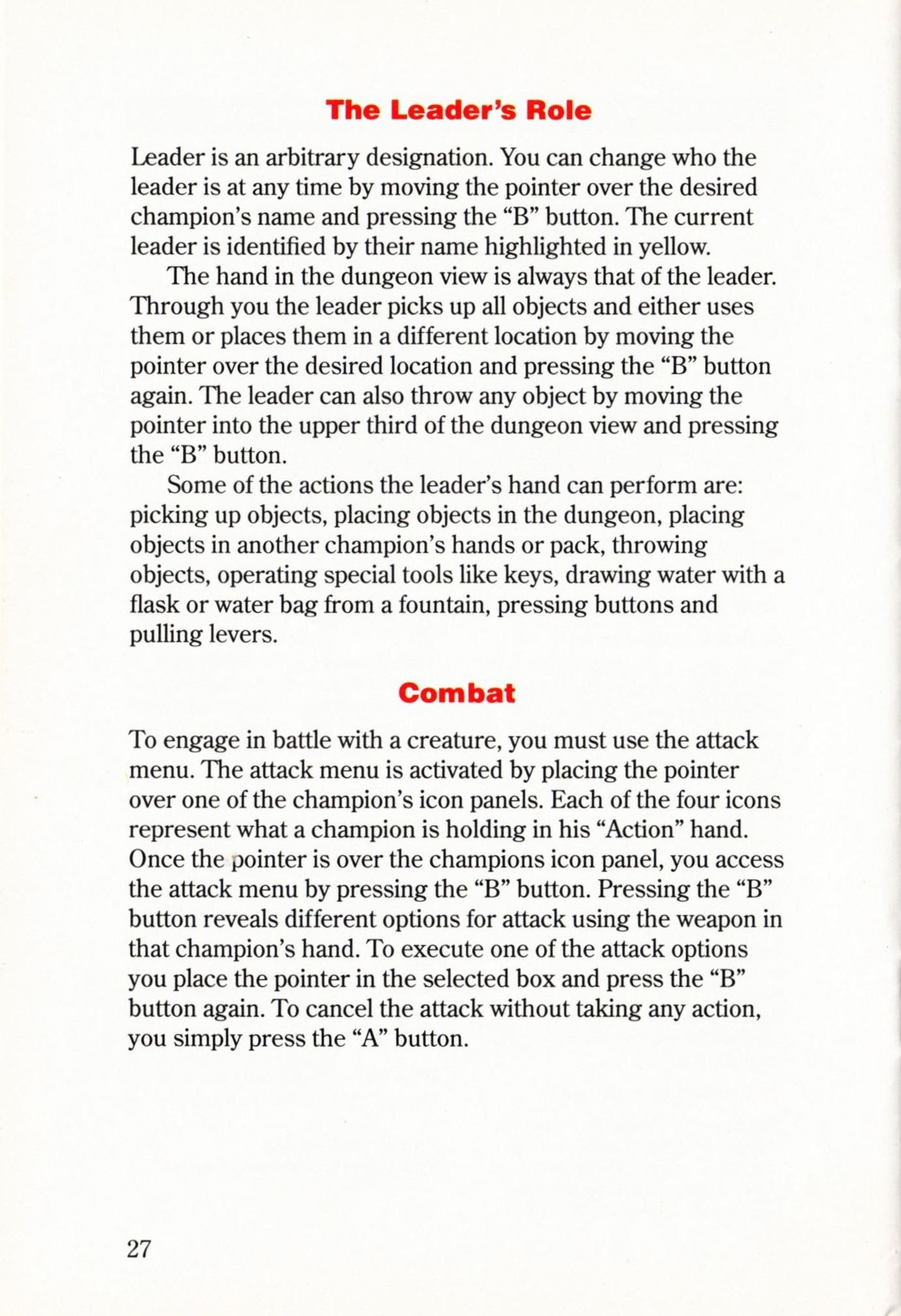 Game - Dungeon Master - US - Super NES - Manual - Page 030 - Scan